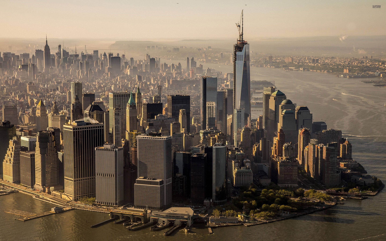 Free New York City Skyline Day USA America HD Desktop wallpapers .