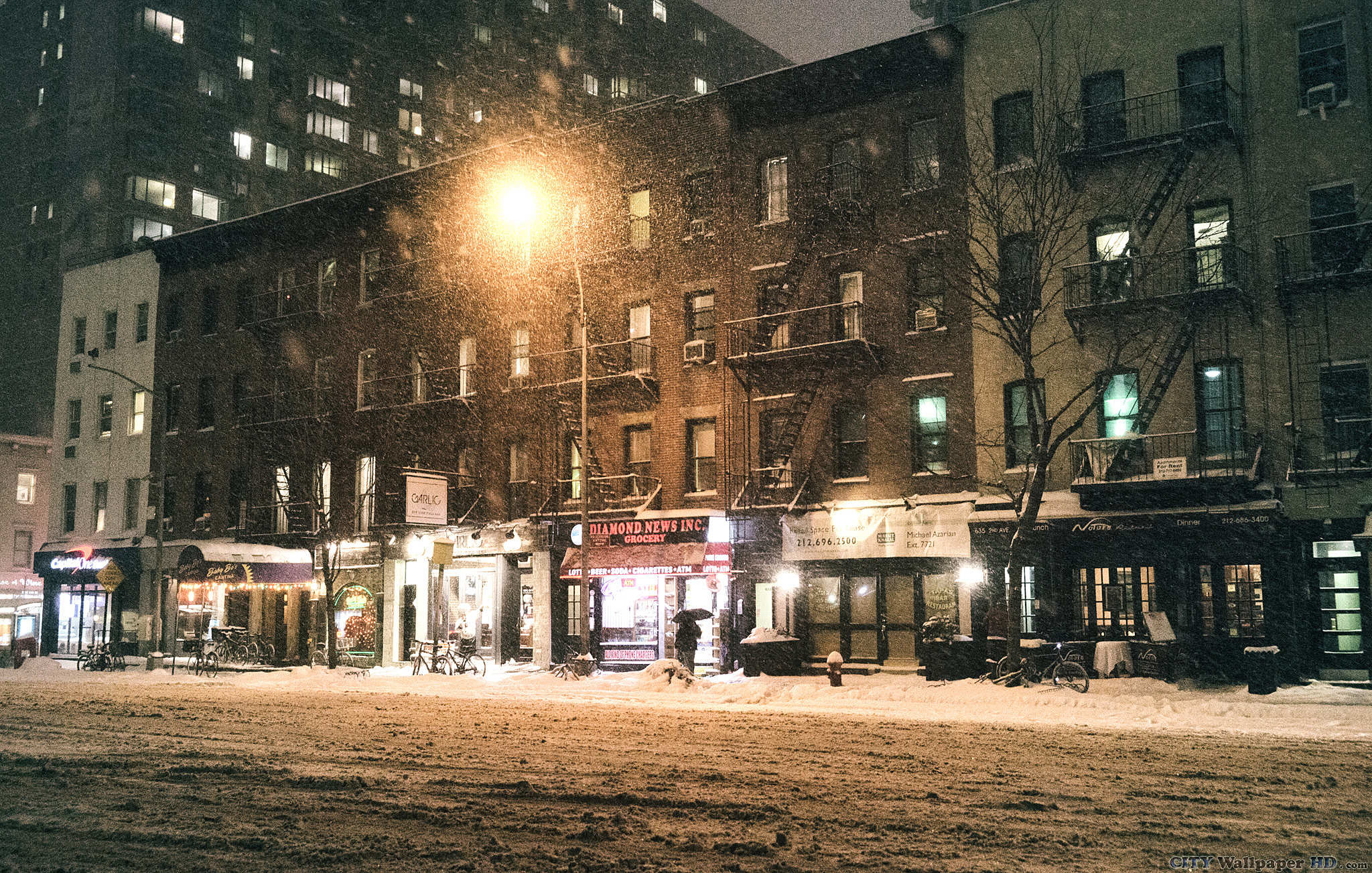 New York winter wallpaper. Download