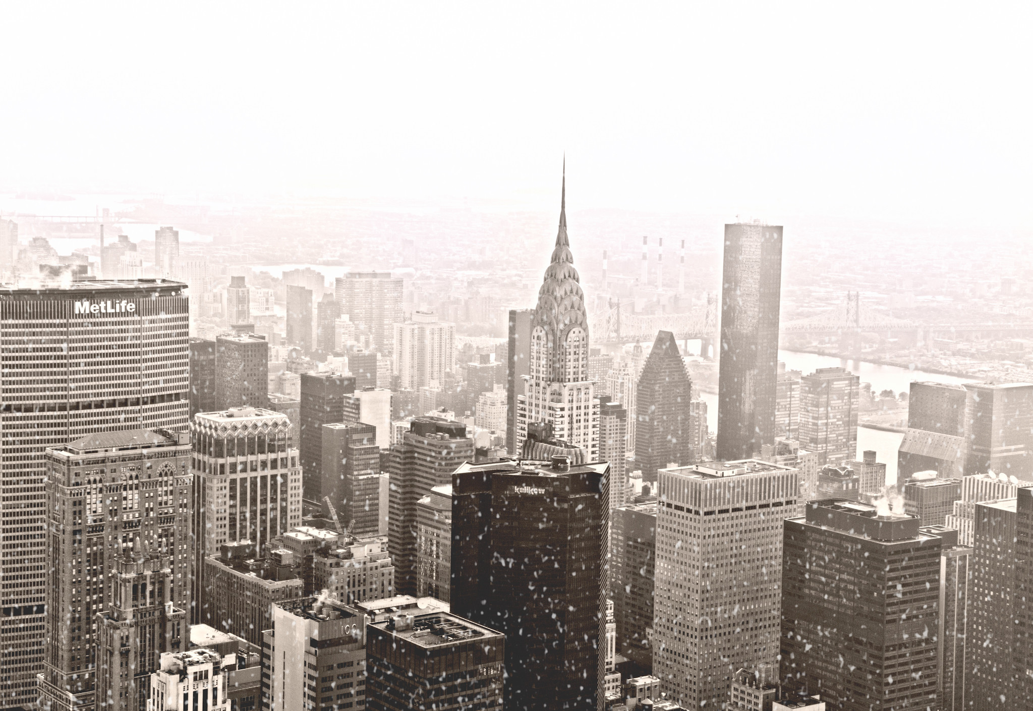 New York City Winter Skyline Wallpaper