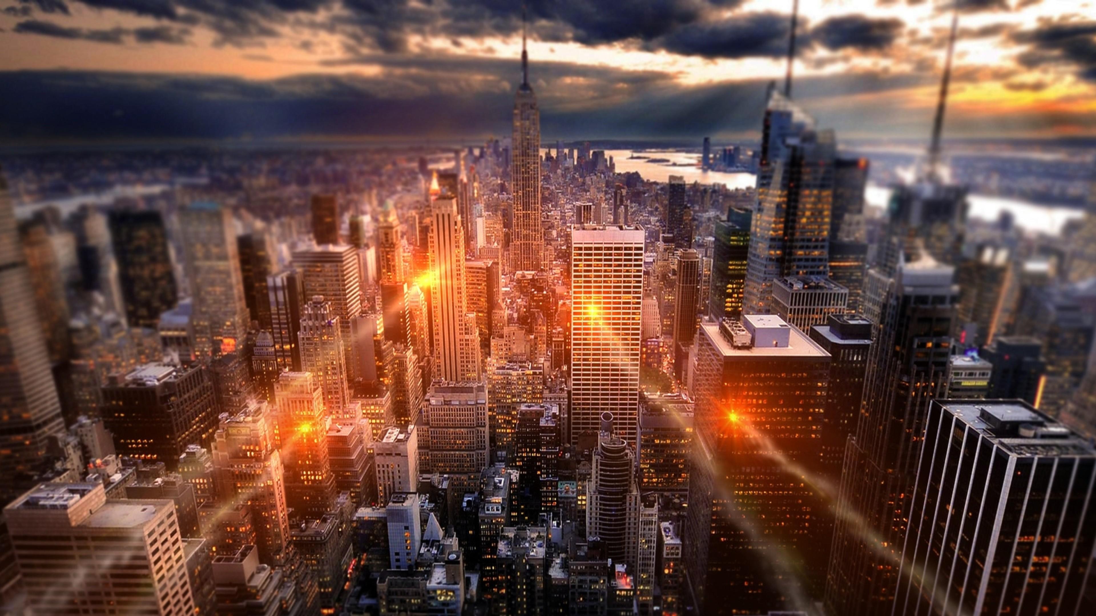 Wallpaper new york, city, glow, usa