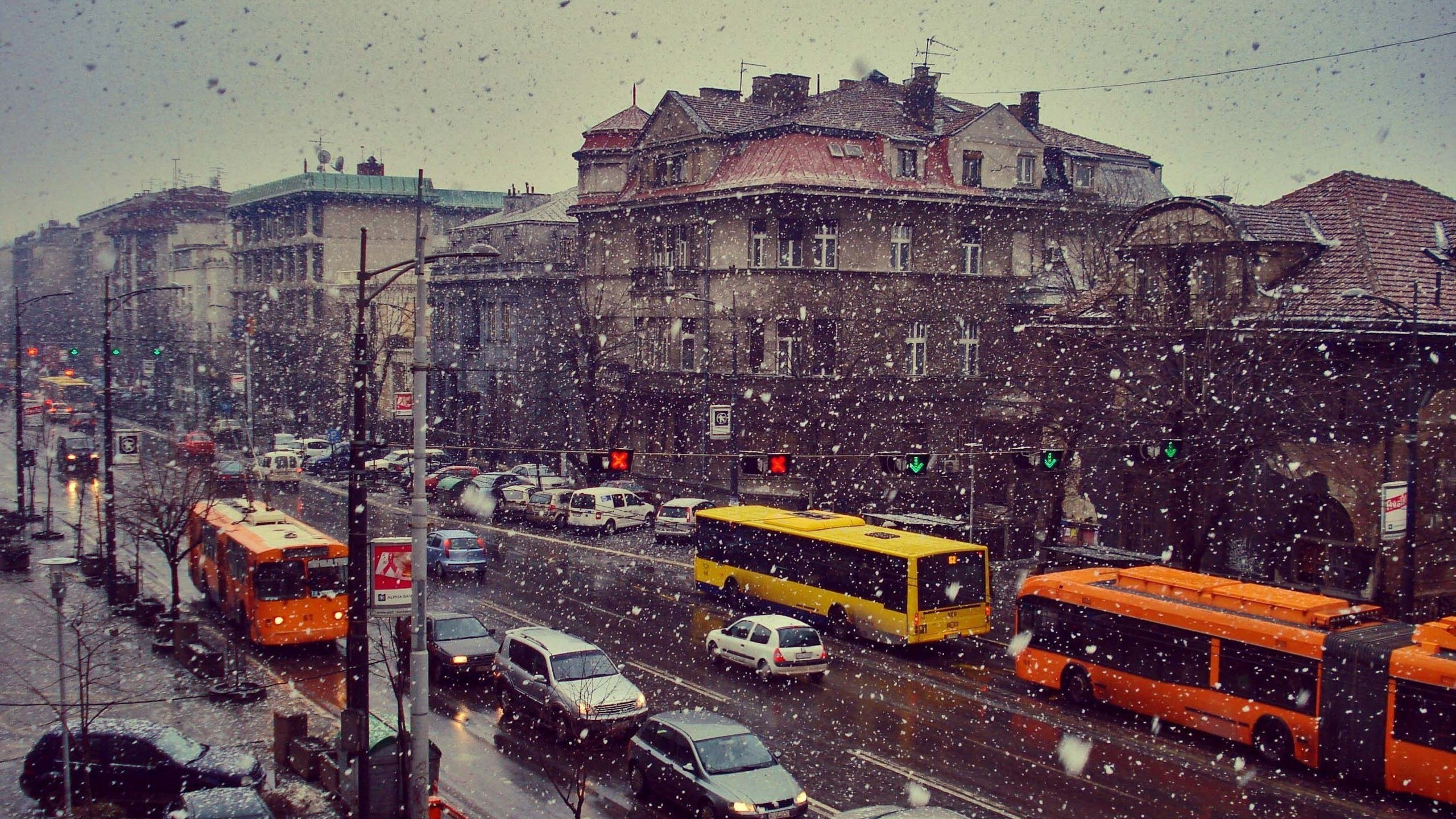 Belgrade, Snow, City, Serbia, Car, Buses Wallpapers HD / Desktop and Mobile  Backgrounds