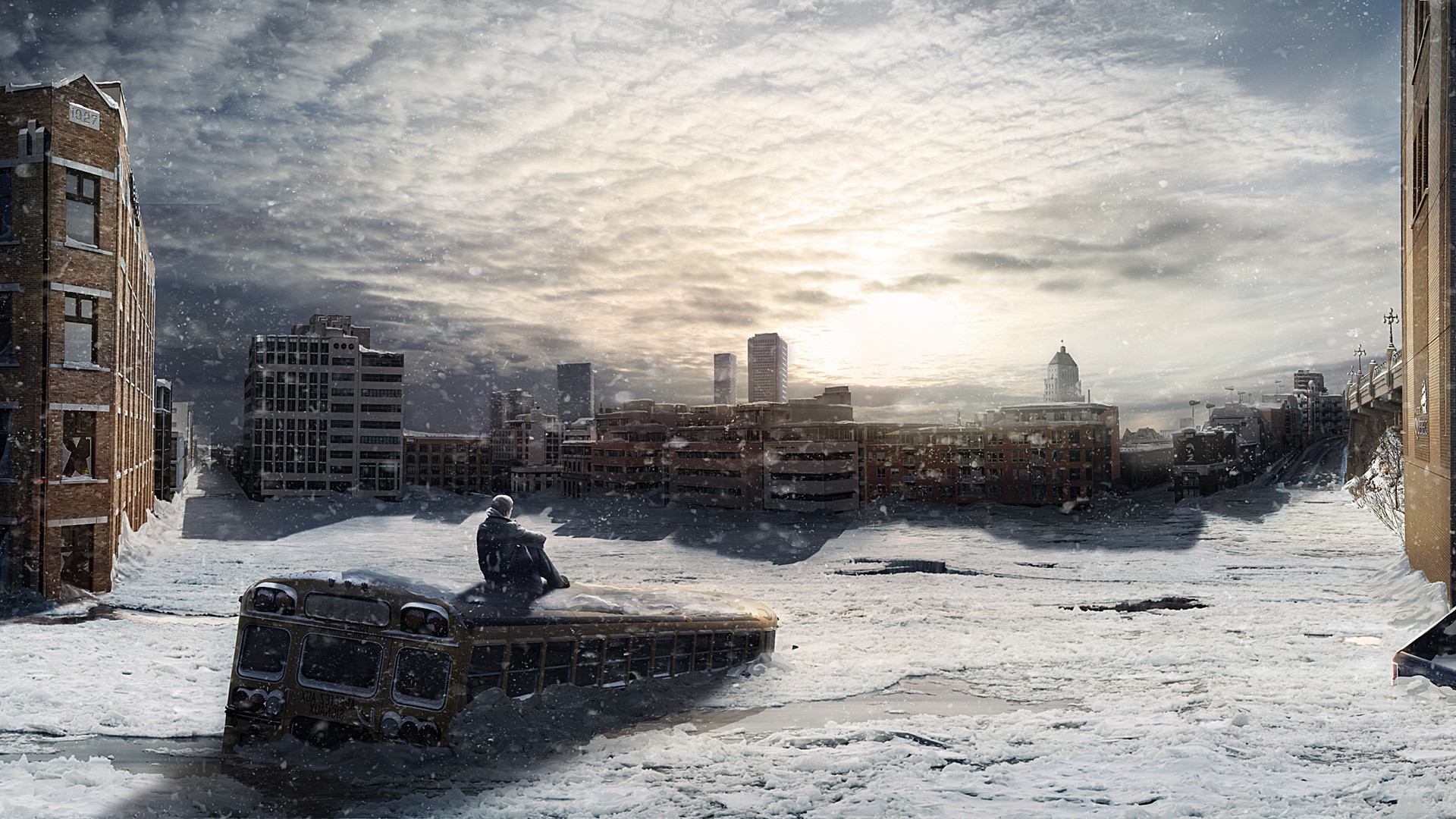 Apocalypse apocalyptic winter snow city wallpaper | | 125679 |  WallpaperUP