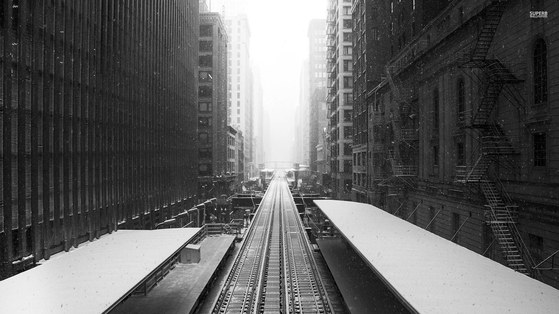 Railroad In The Snowy City …