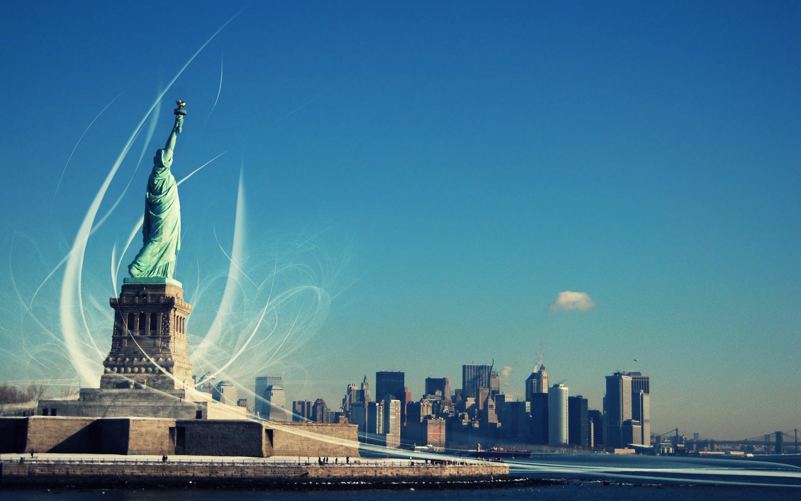 Free New York City Statue of Liberty USA America HD Desktop wallpapers  backgrounds wall murals downloads