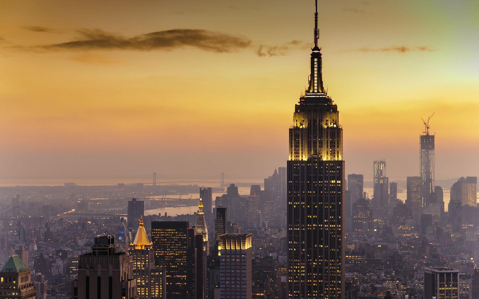 New York City Sunset Desktop Background Wallpaper HD – dlwallhd.