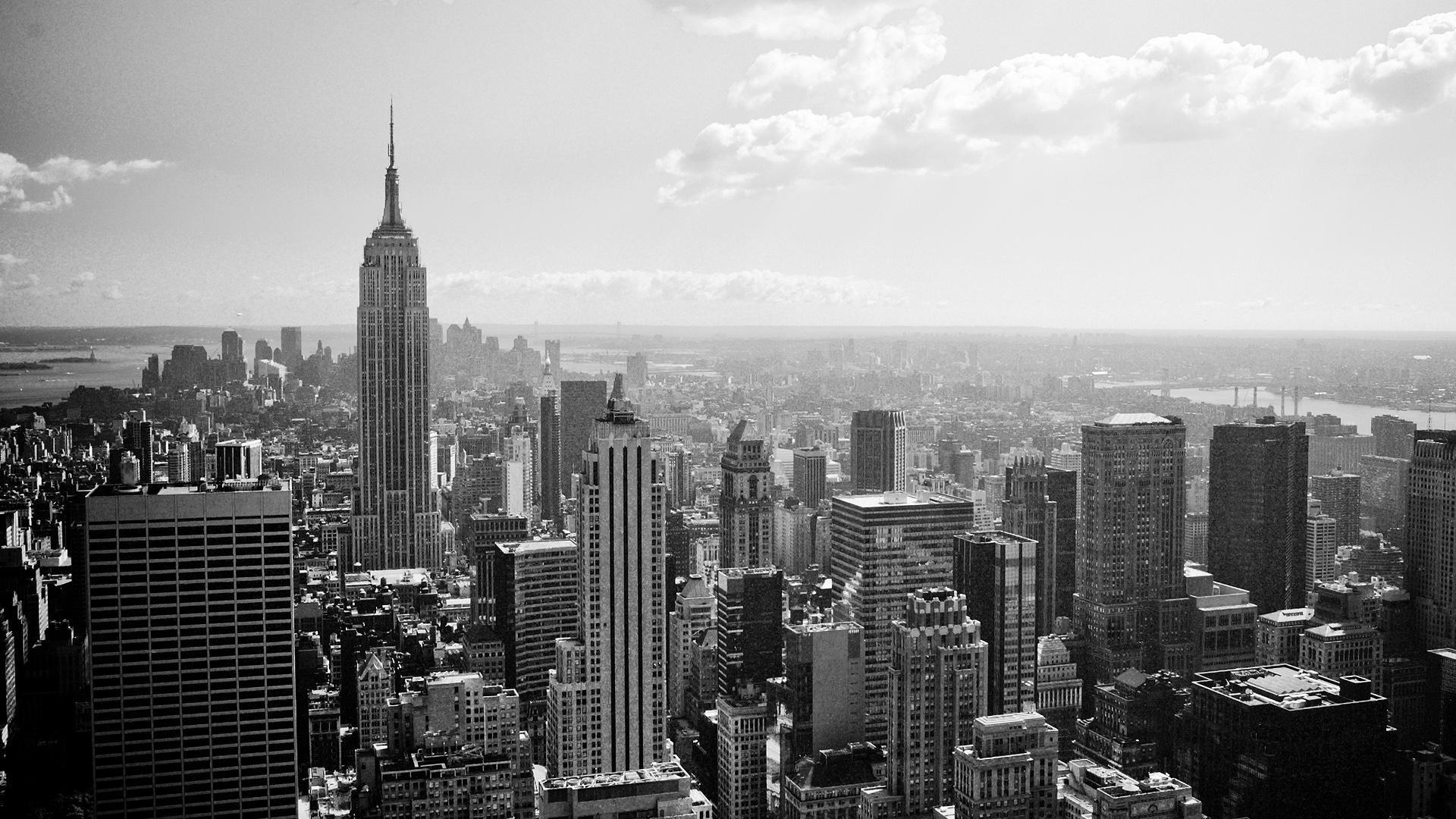 New York City Black And White wallpaper desktop background