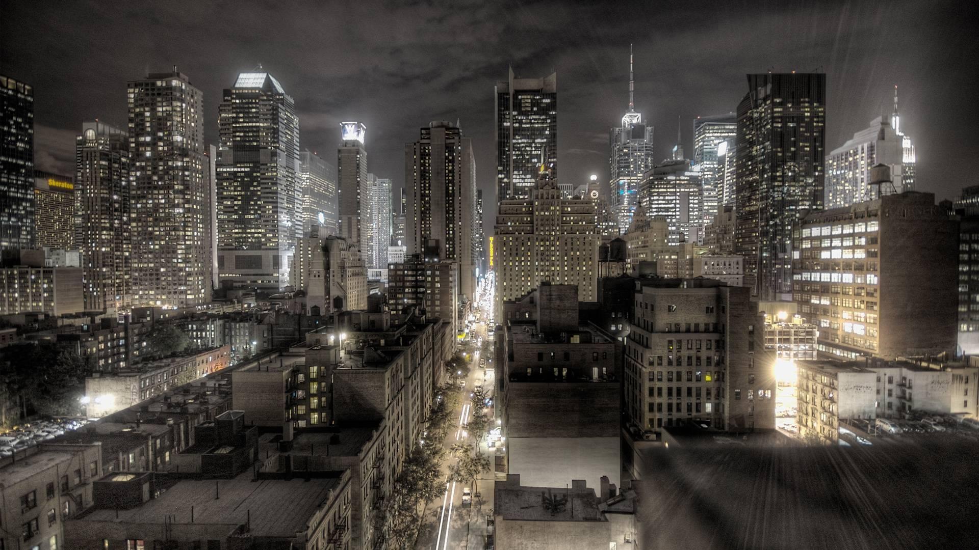 New York city HDR image hd resolution free desktop background .