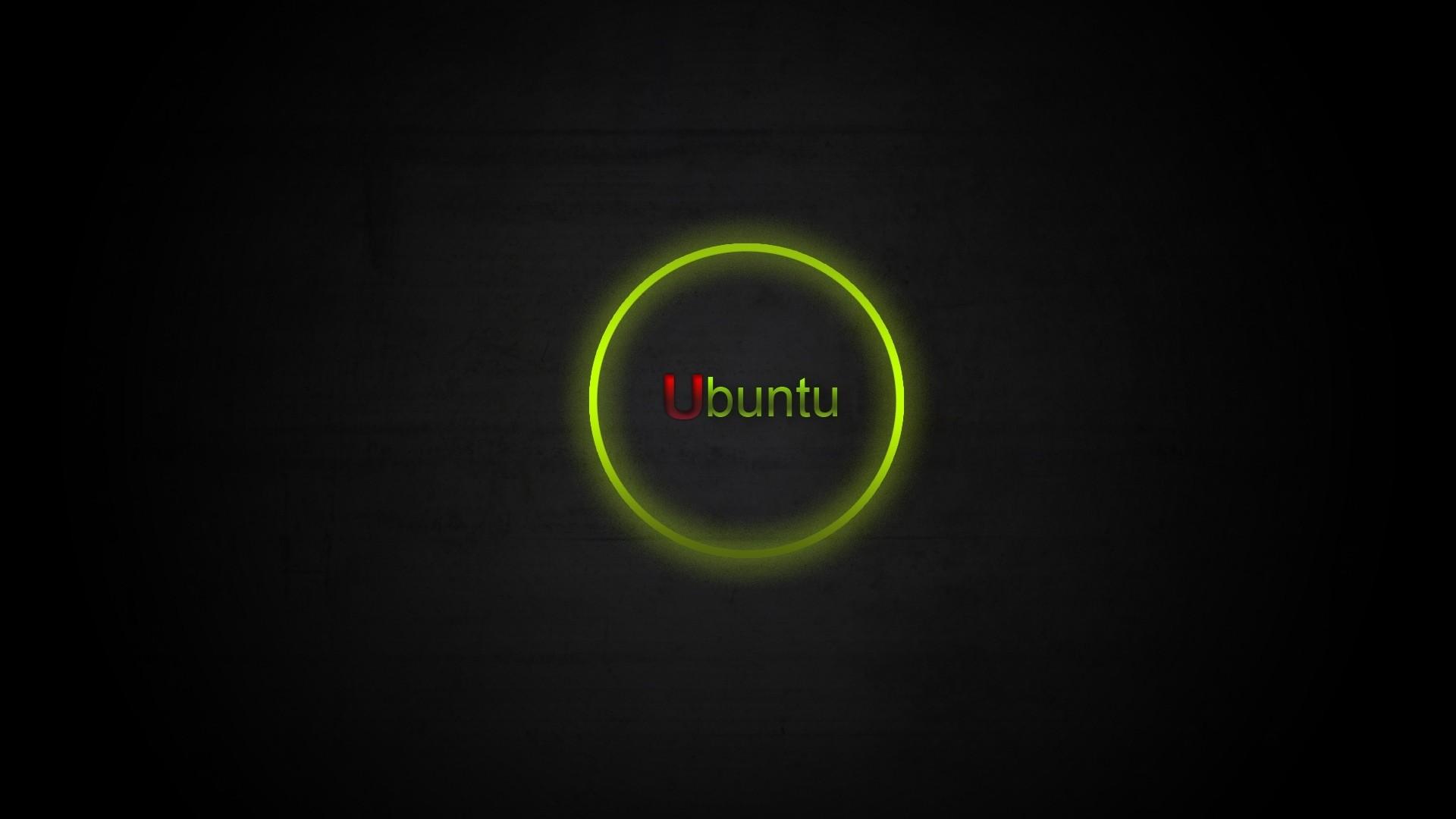 Wallpaper ubuntu, green, black, red