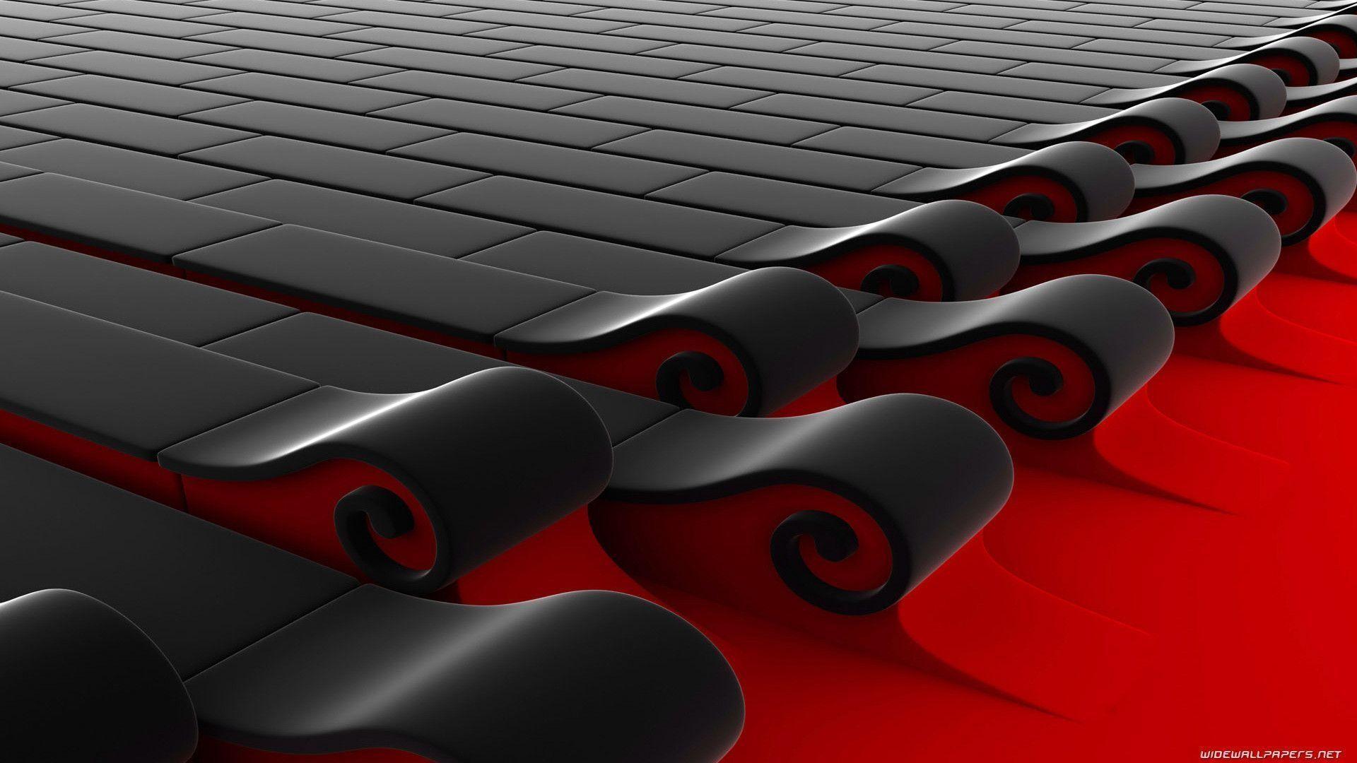 3D Black Red Wallpaper HD : TimeDoll