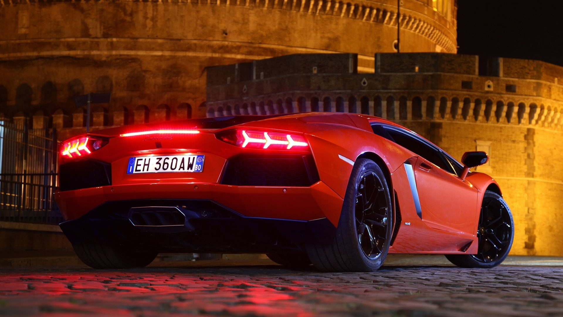 Red Lamborghini Aventador HD Wallpapers 1080p Cars