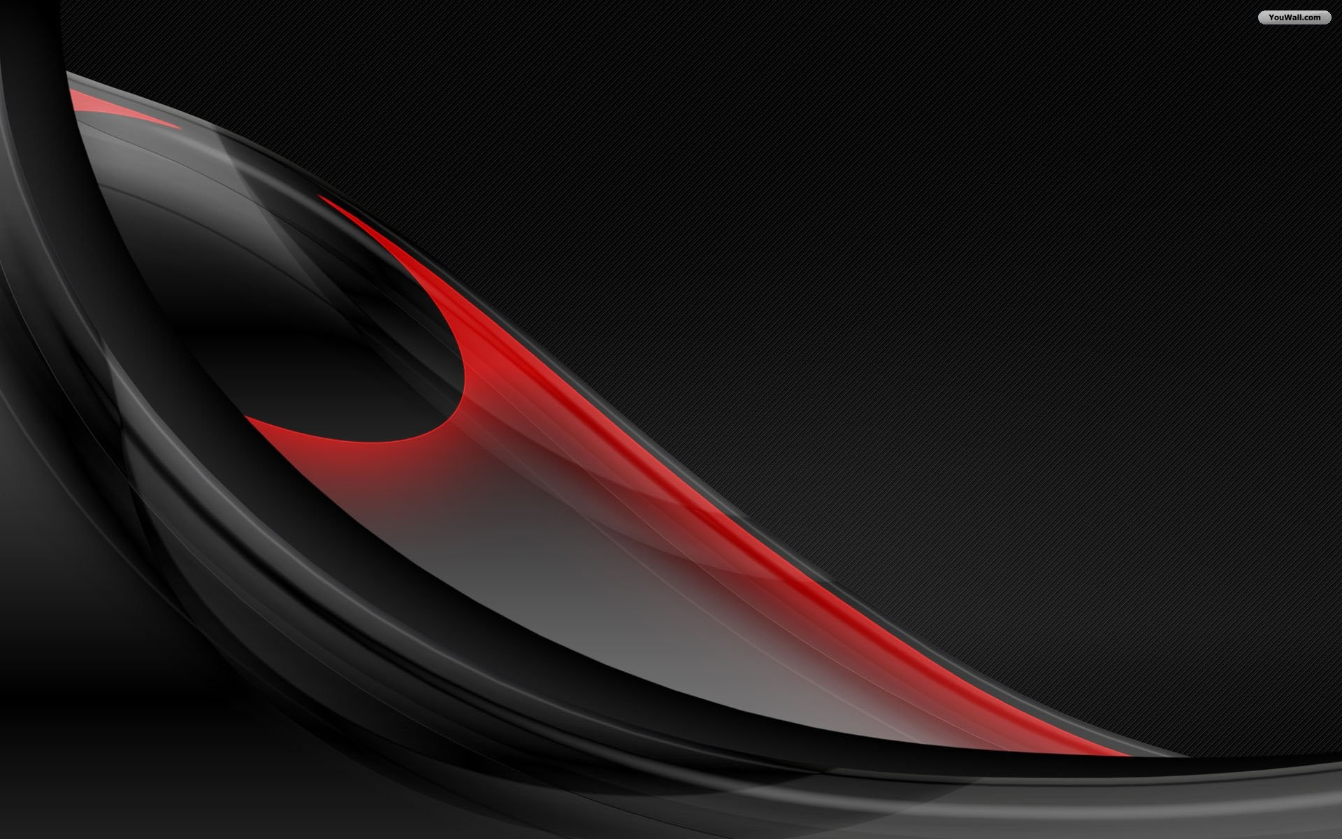 Abstract Art Black and White Red Wallpaper 1080p HD