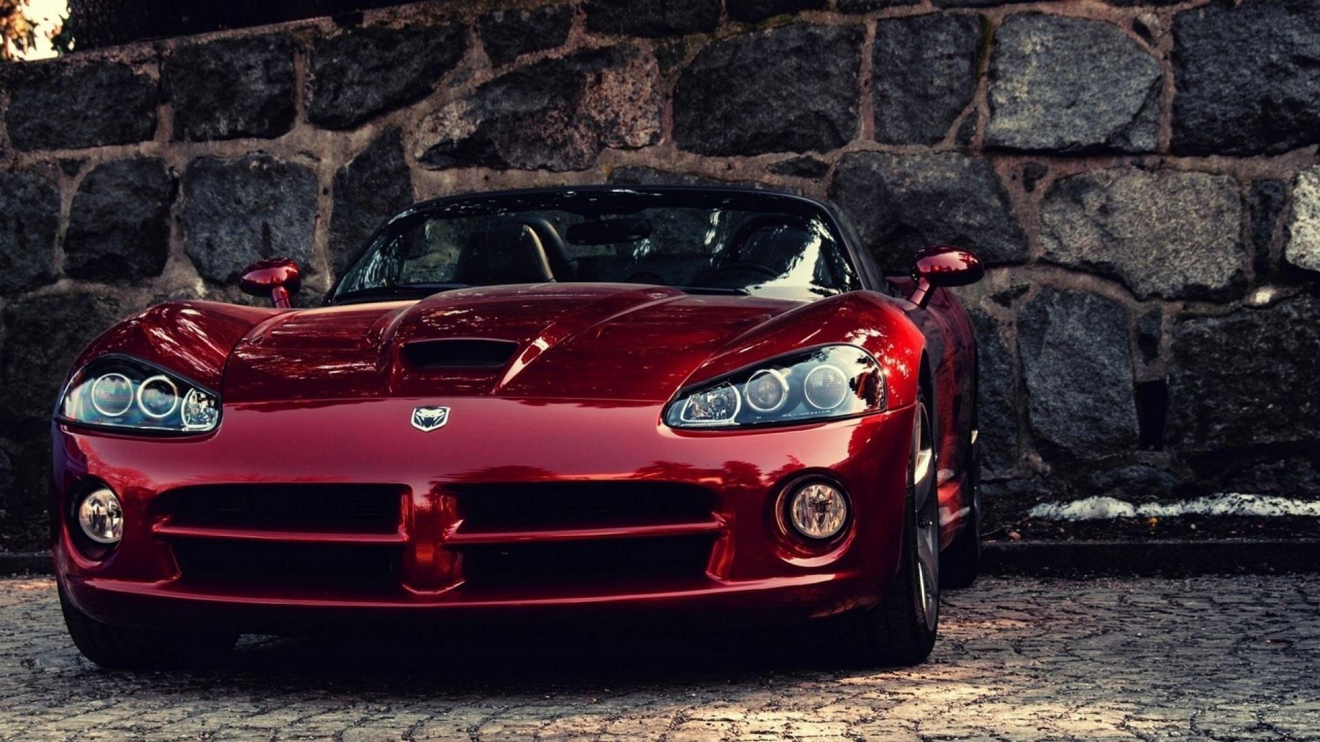 … Background Full HD 1080p. Wallpaper dodge viper, auto, red