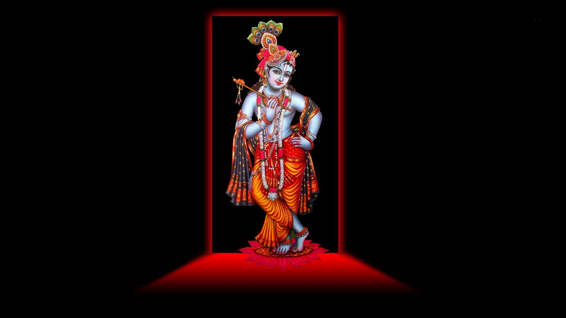hd pics photos gods black and red lord krishna desktop background wallpaper