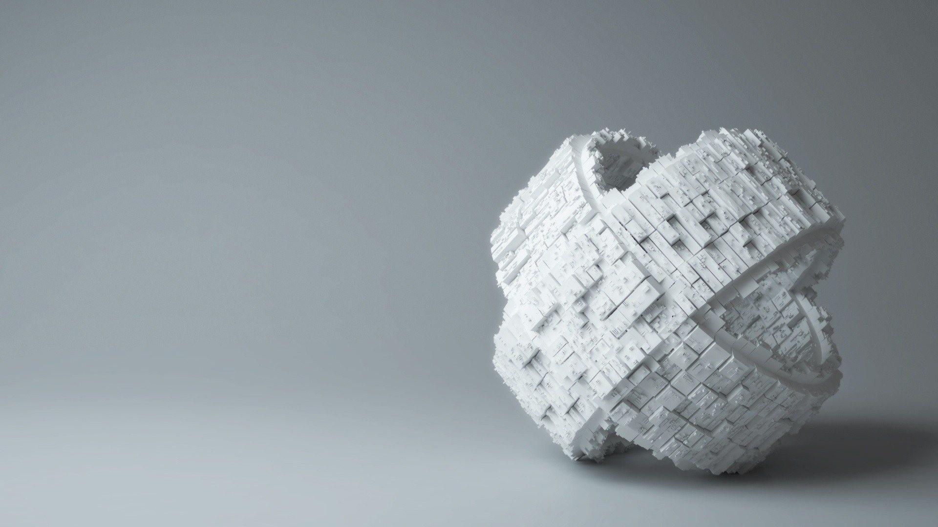 3D Block Brick Wallpaper, 3d Block effect Textured Plain wallpaper .