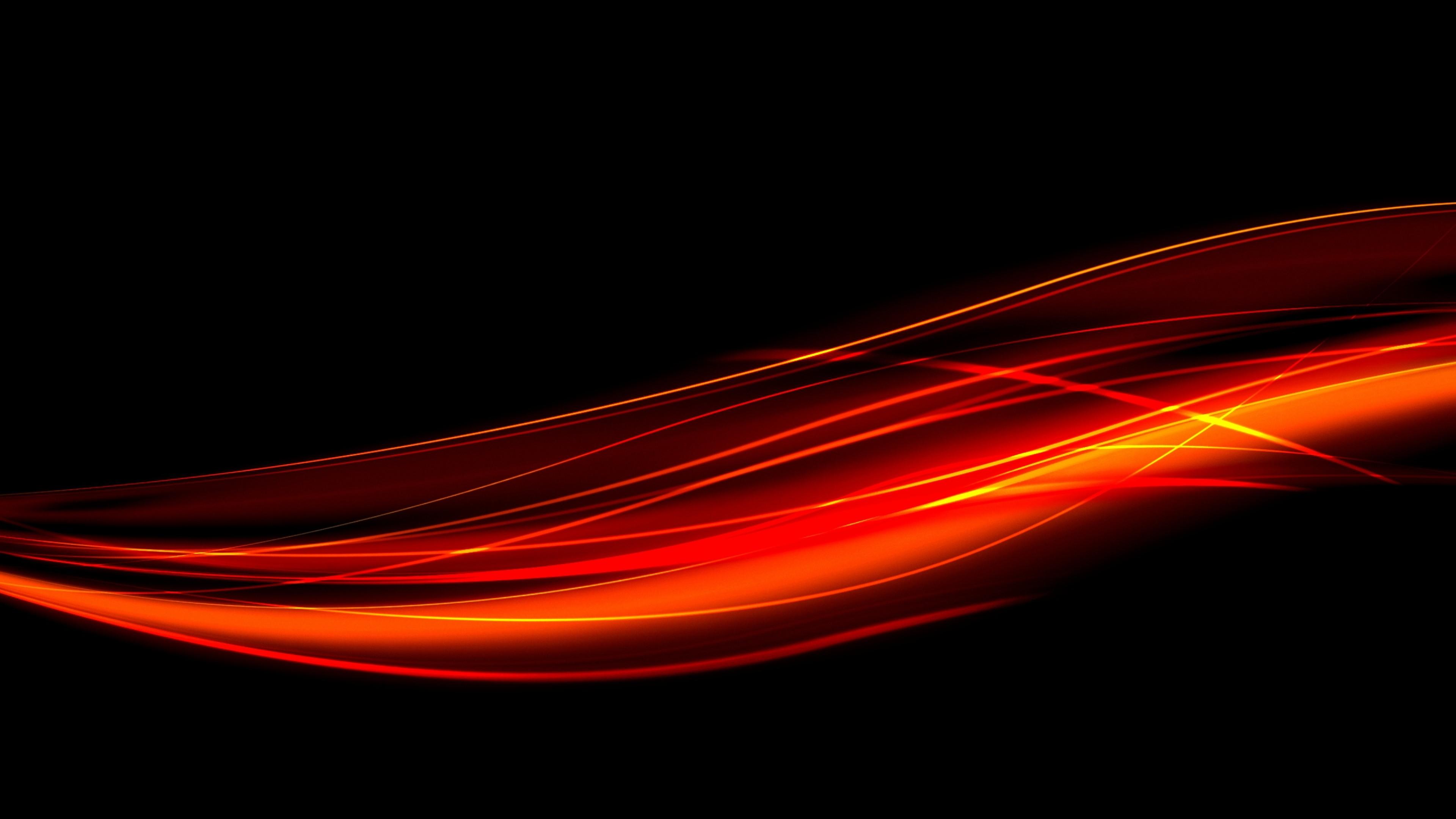 Preview wallpaper black, red, line, light 3840×2160