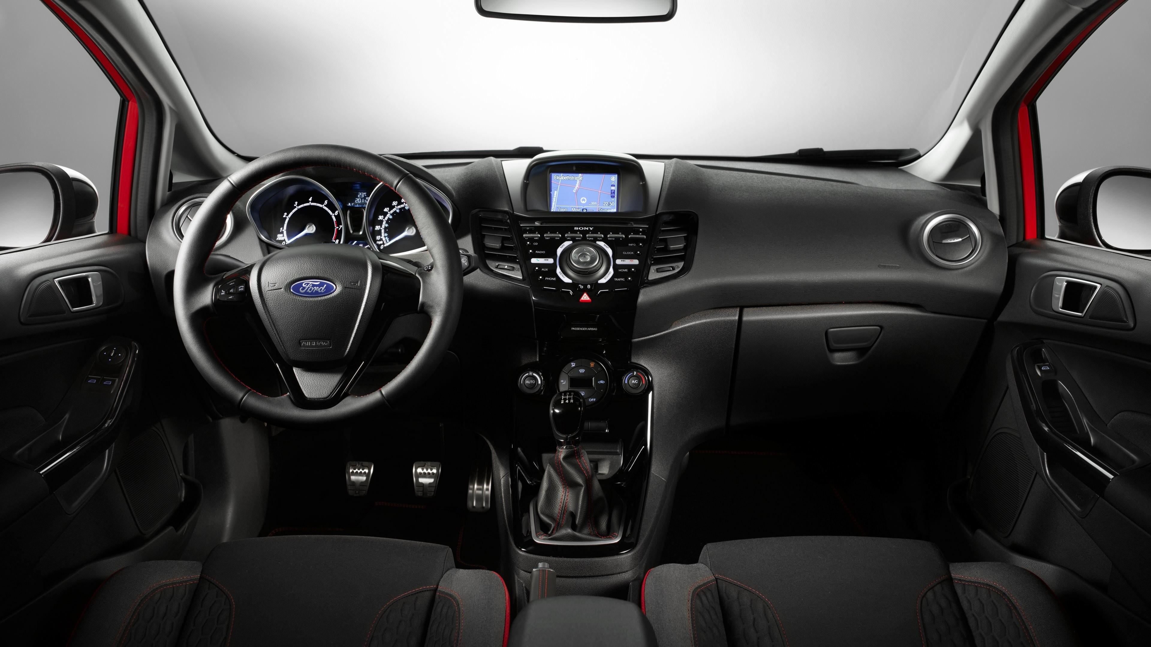 Wallpaper 4: Ford Fiesta Red Black. Ultra HD 4K 3840×2160
