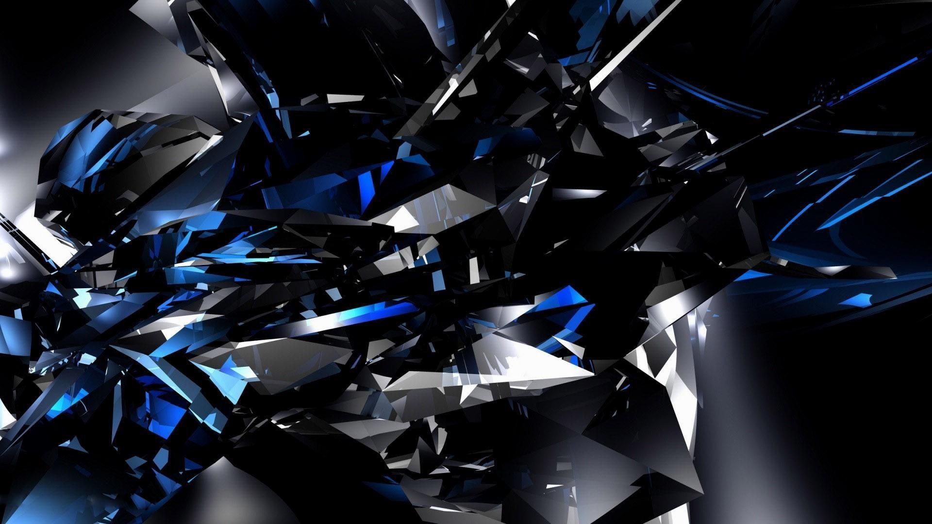 HD-Black-and-Blue-Wallpaper