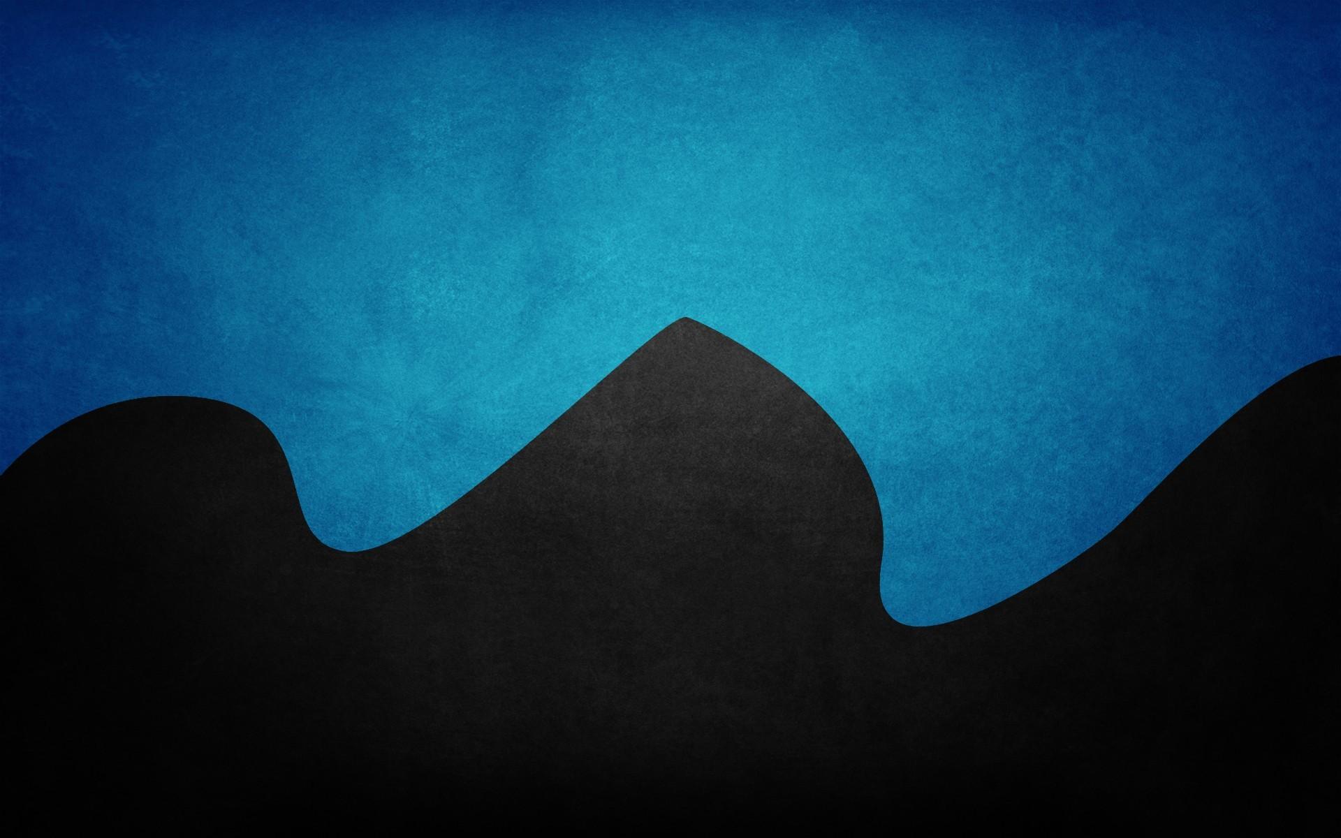 Artwork Color Black Blue Minimalistic …