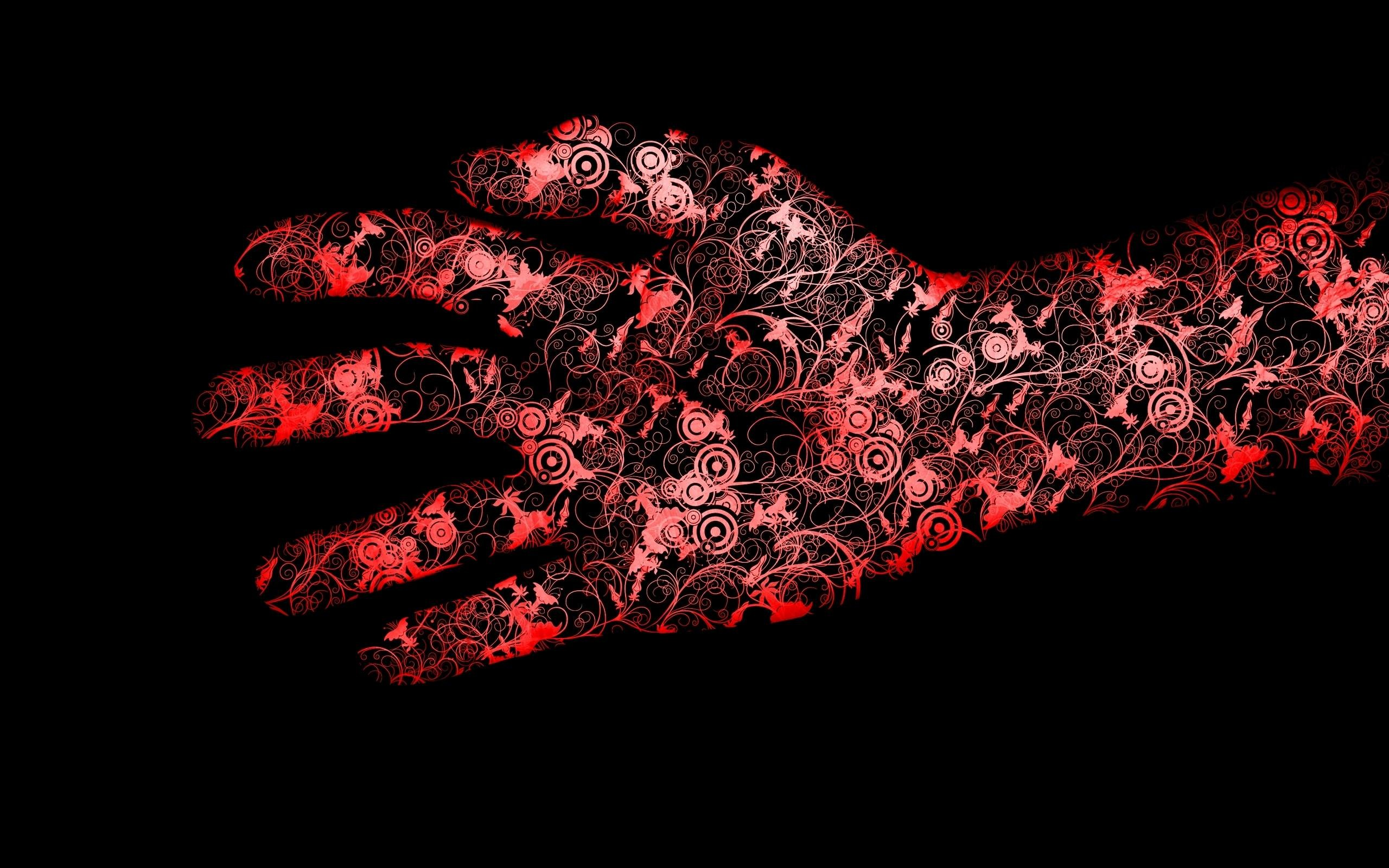 Wallpapers For > Abstract Black And Red Wallpaper