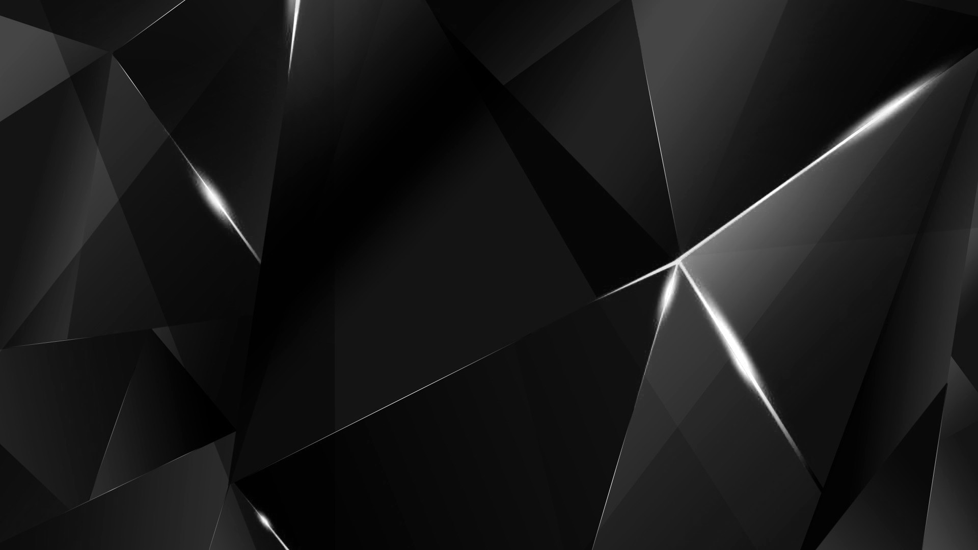 … Wallpapers – White Abstract Polygons (Black BG) by kaminohunter