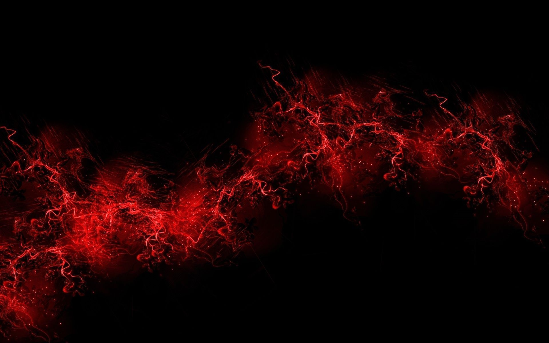 Red Lightning Background