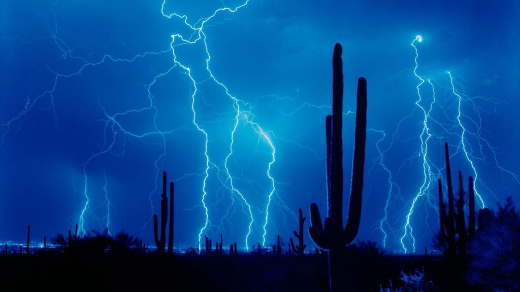 Download Wallpaper Lightning, Thunder-storm, Elements .