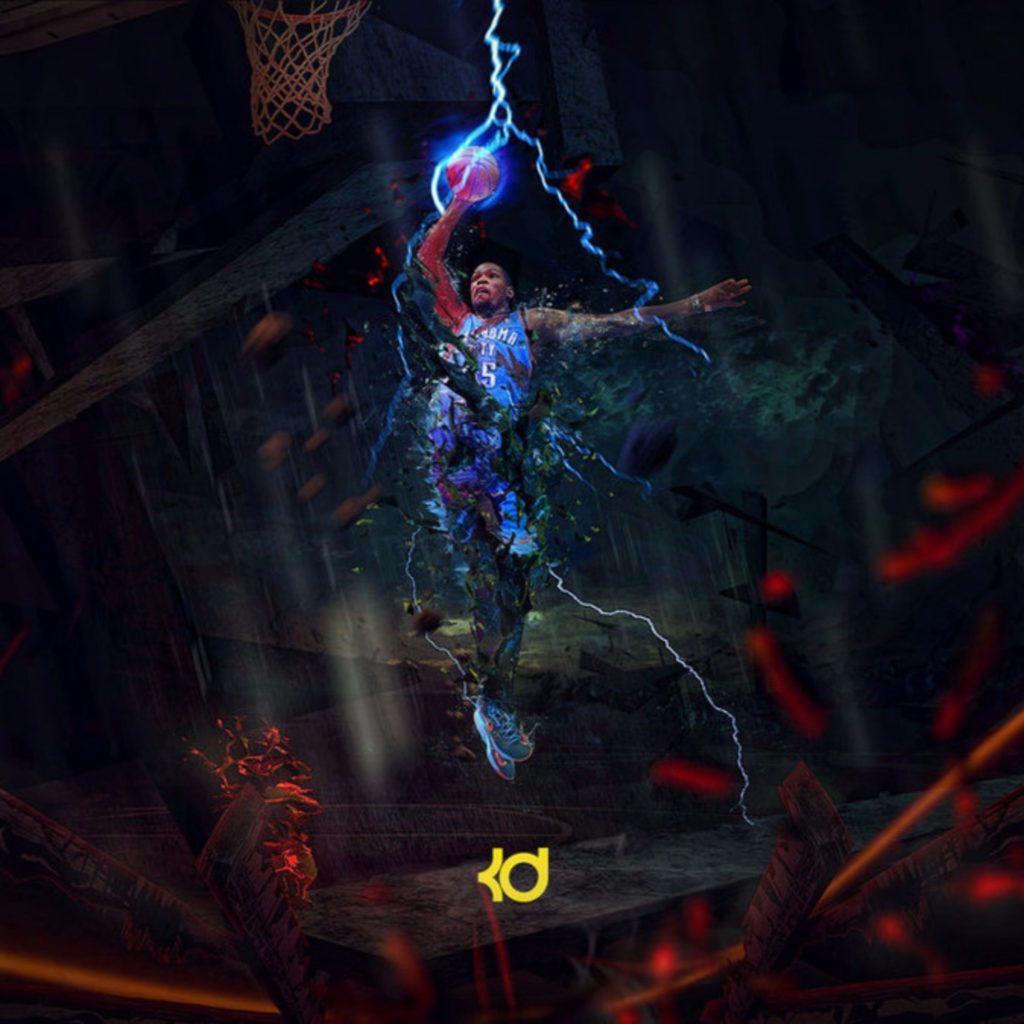 Blue Lightning Kevin Durant 4K Wallpapers | Free 4K Wallpaper