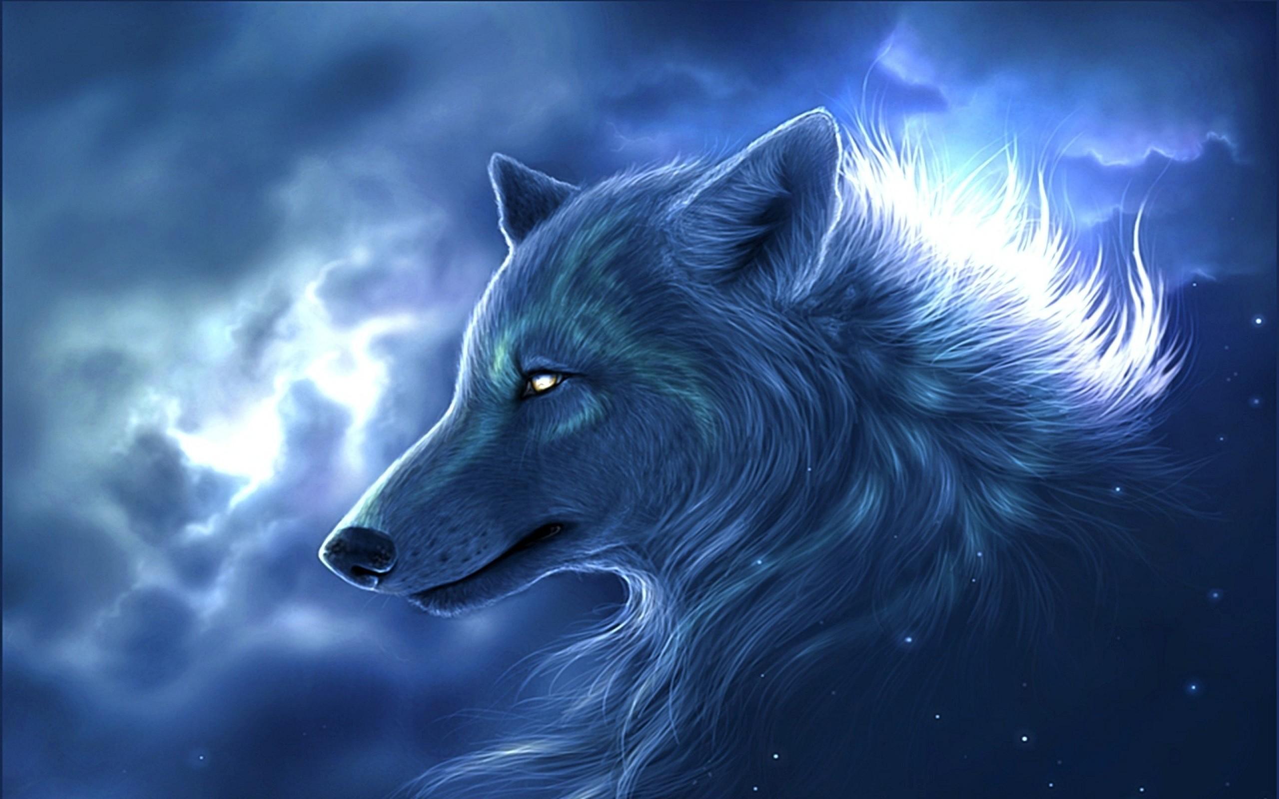 <b>Lightning Wolf Wallpaper …