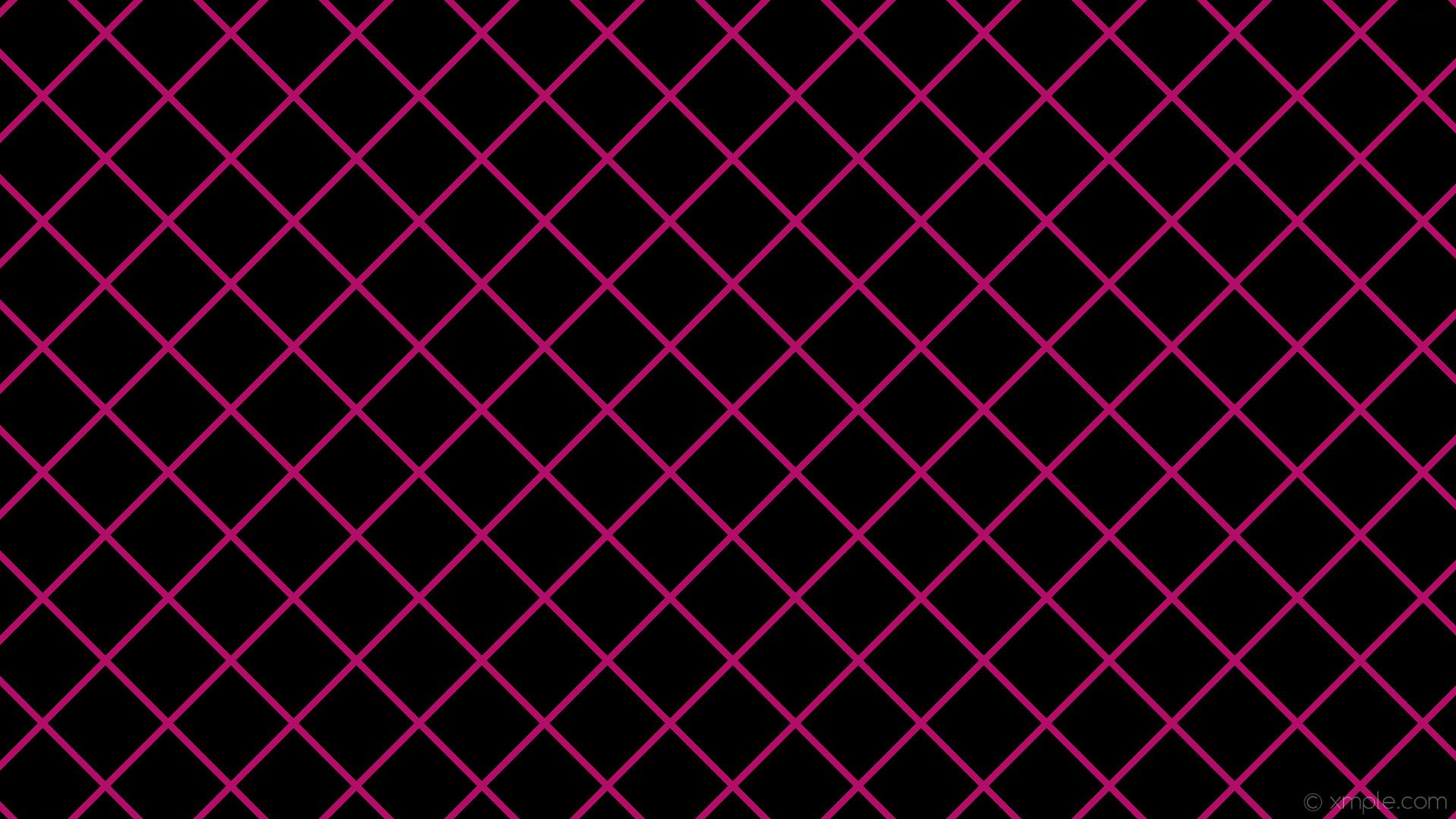 wallpaper black pink graph paper grid deep pink #000000 #ff1493 45° 9px  117px