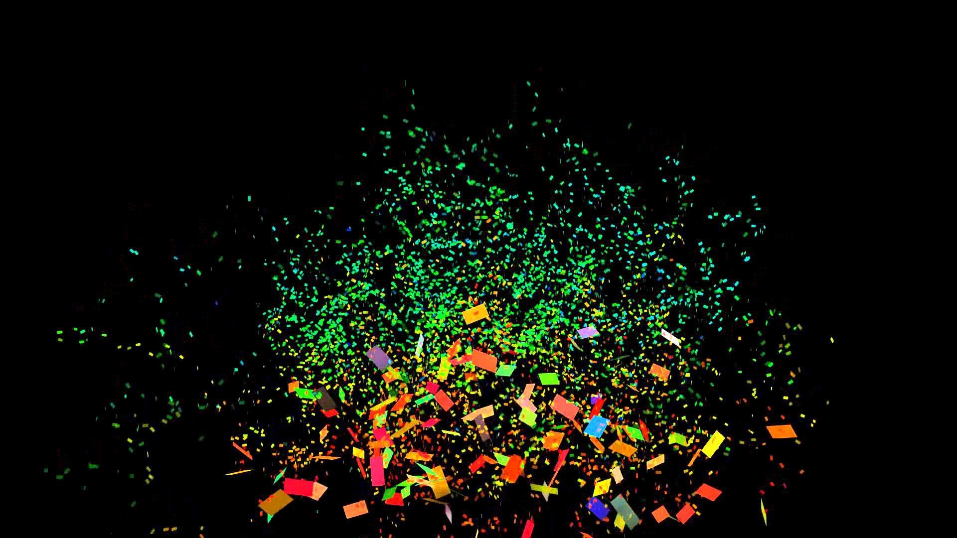 -2 – Confetti cannon 1080p full hd, confetti with black background – YouTube