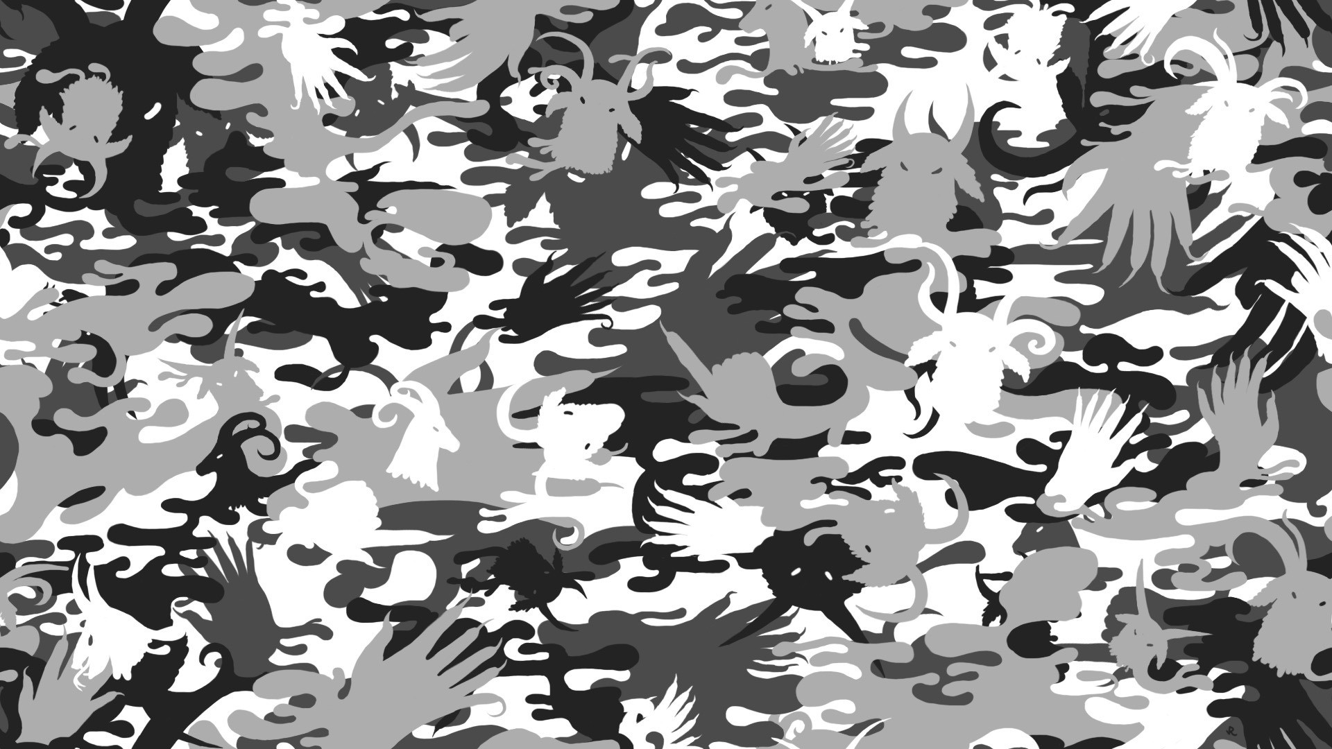 War Black And White Urban Camouflage Seamless Vector Pattern .