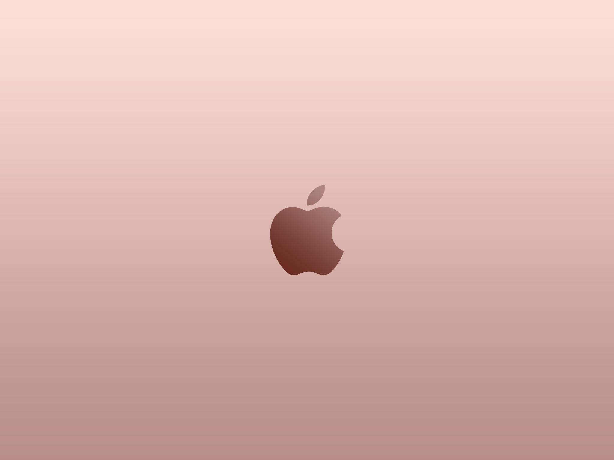 … Apple Logo Rose Gold Wallpaper by superquanganh