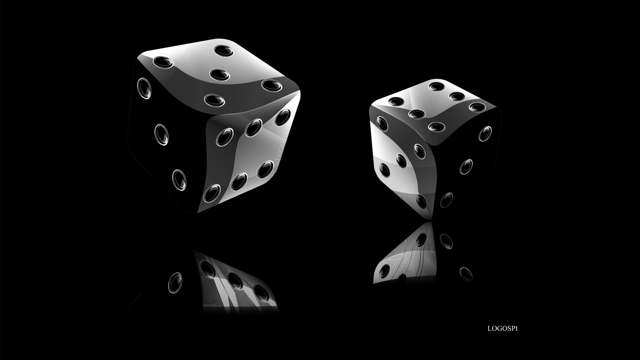 black dices. How to set wallpaper on your desktop? Click the  download link from above and set the wallpaper on the desktop from your OS.