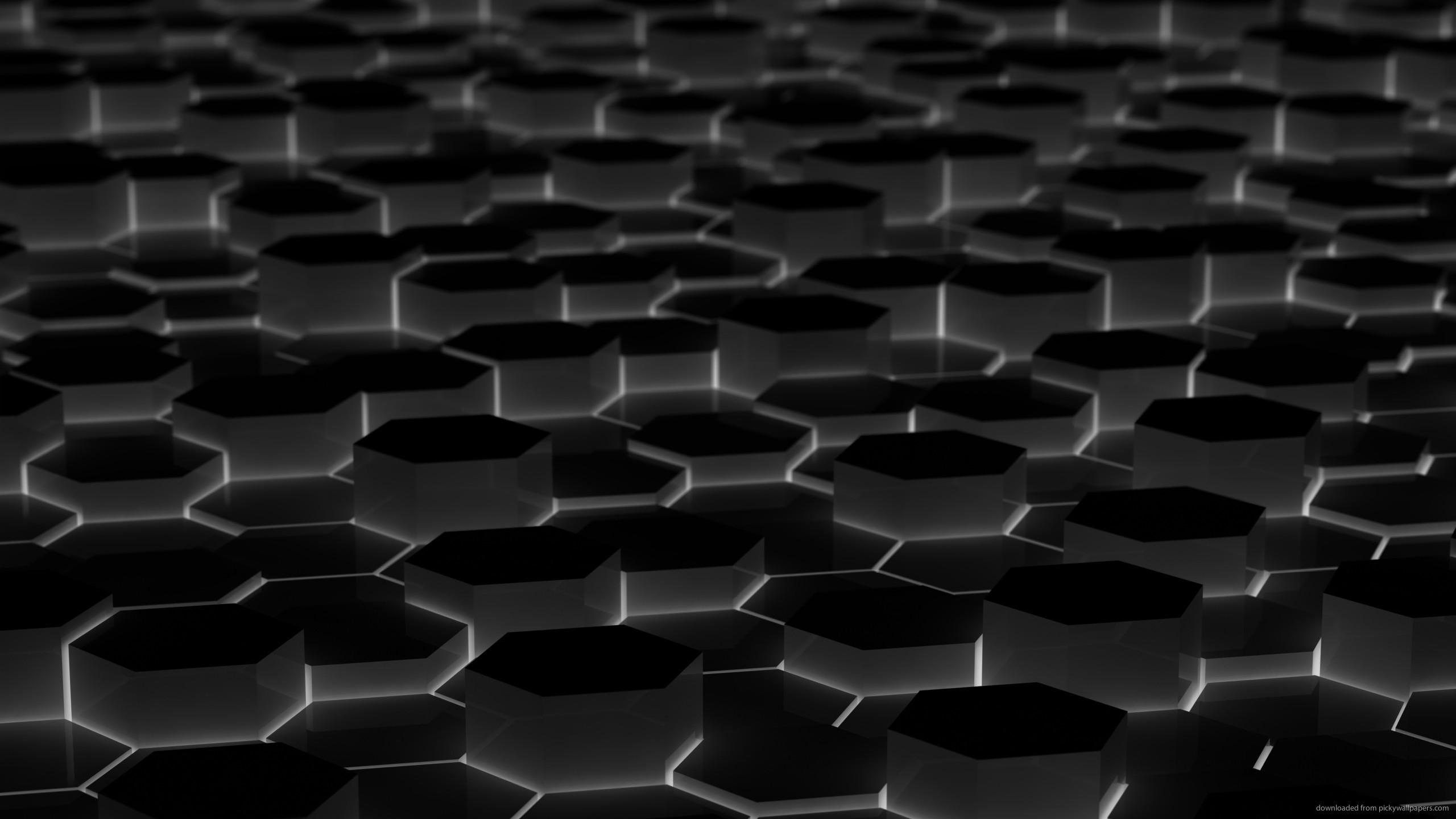 Black Hexagons for 2560×1440