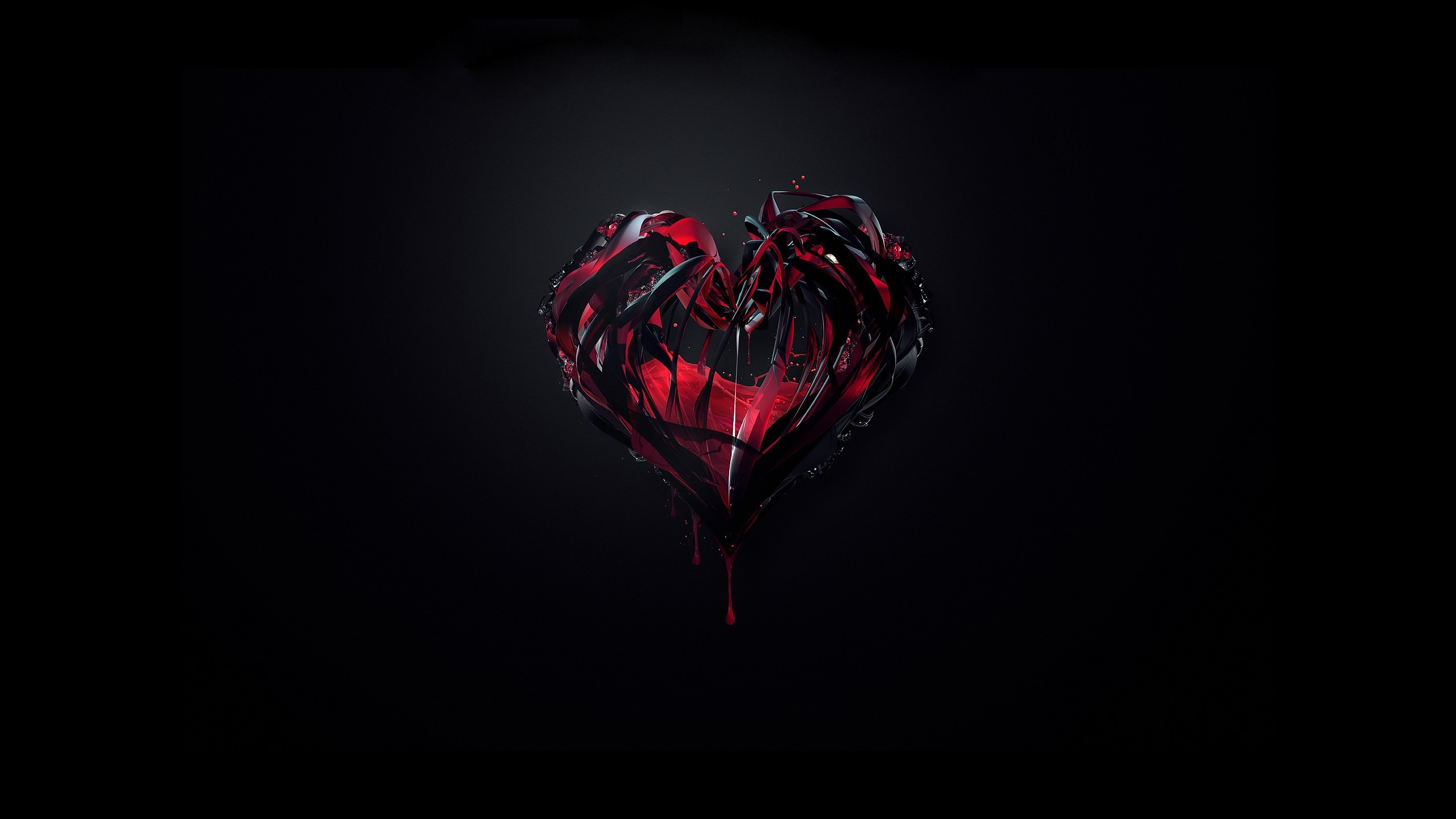 Love Black Wallpaper Love, Black, Hearts