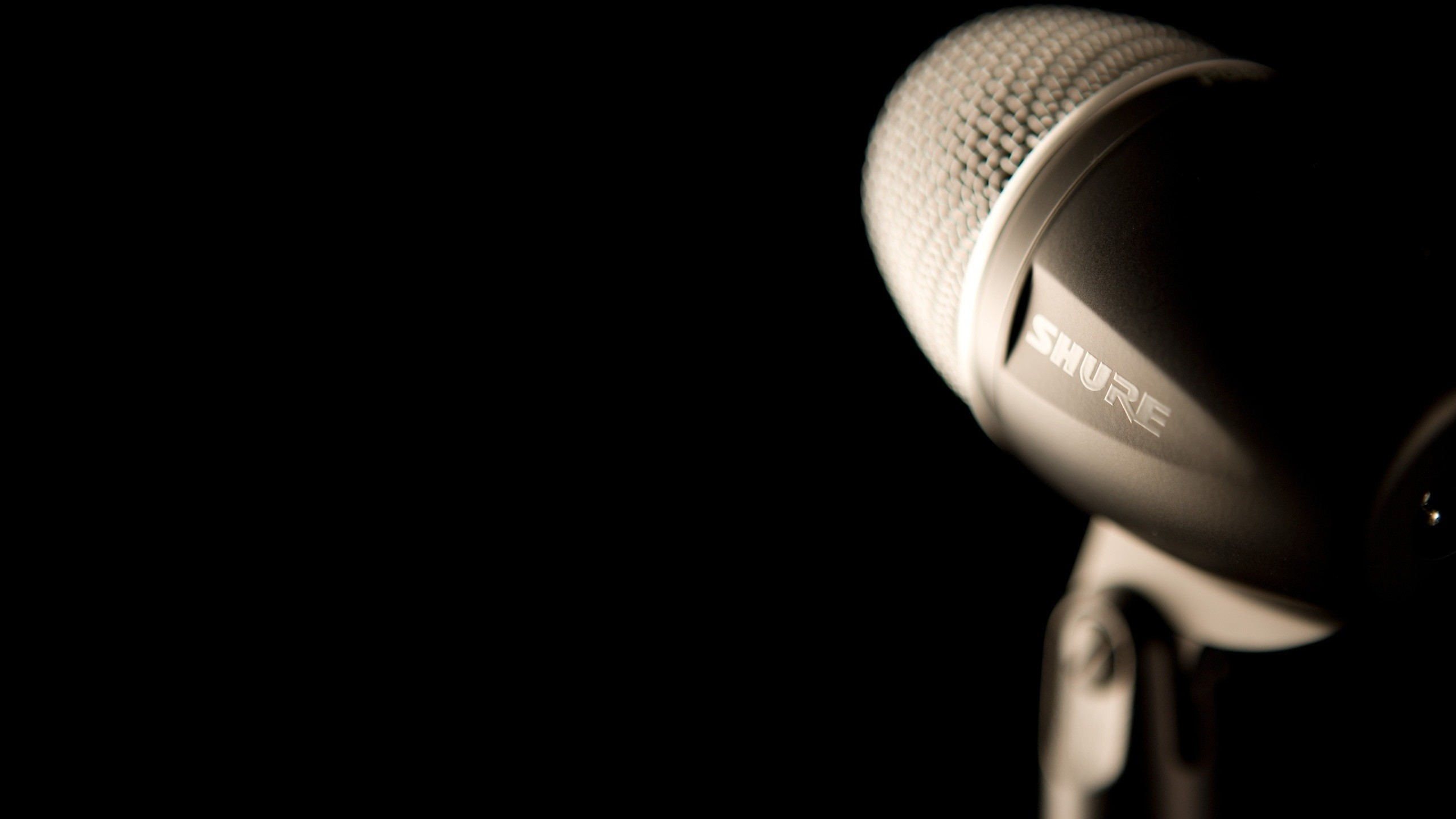 Black Shure Studio Microphone