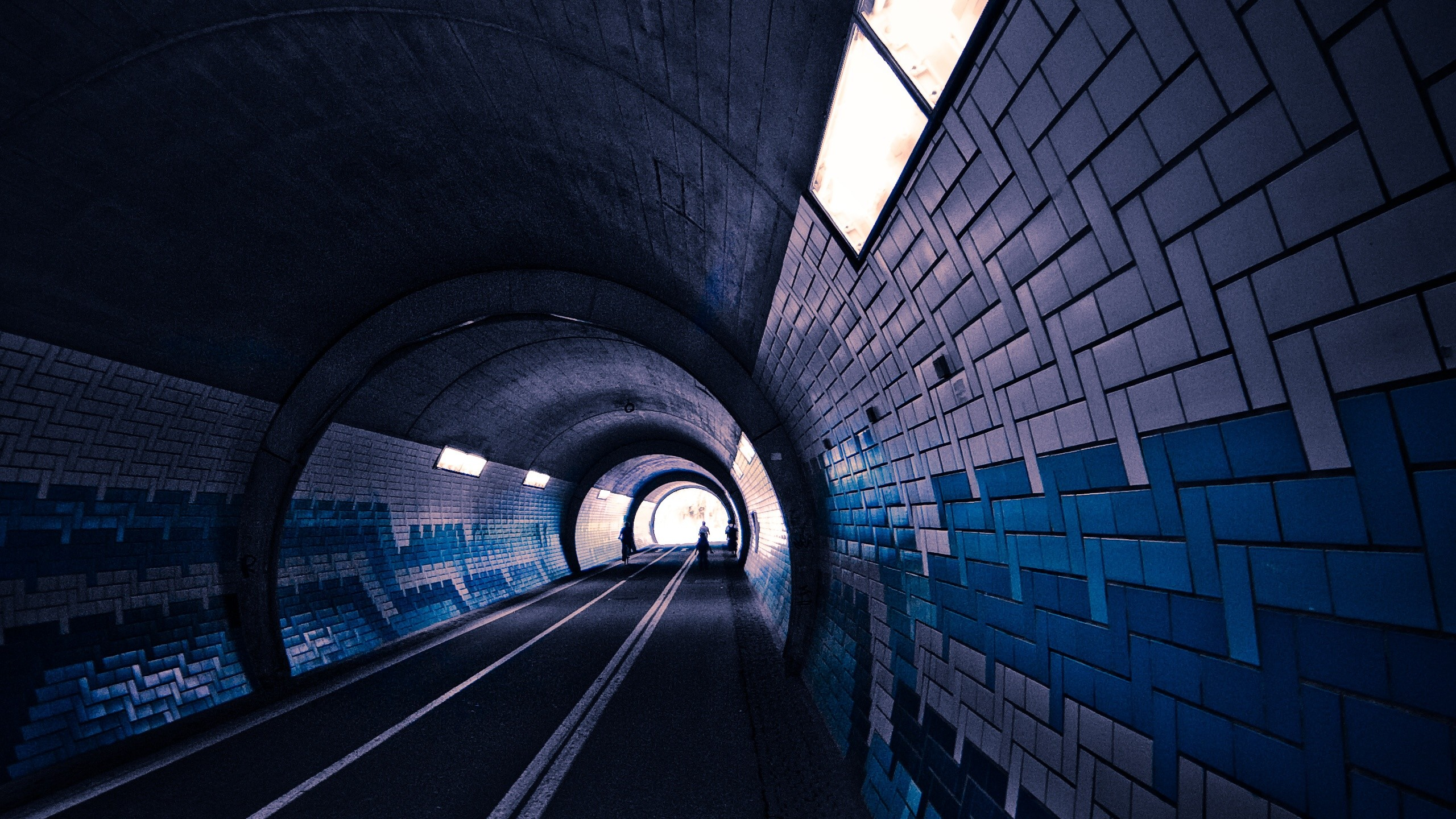 Dark tunnel. How to set wallpaper on your desktop? Click the  download link from above and set the wallpaper on the desktop from your OS.