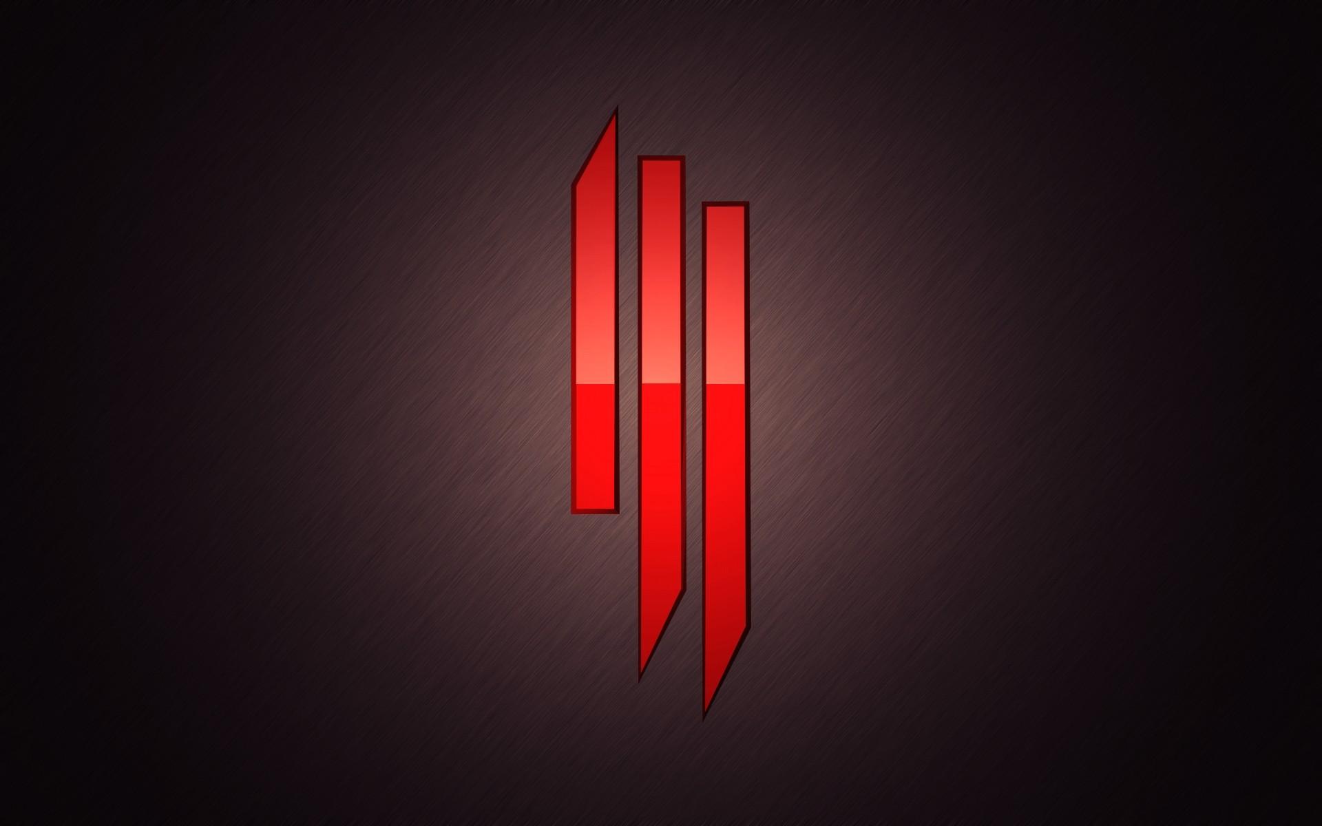Wallpaper skrillex, symbol, red, background, light