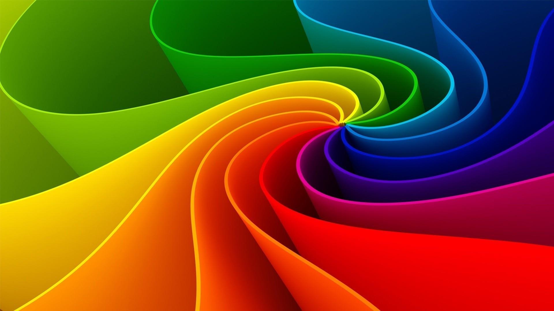 Abstract Rainbow Wallpaper