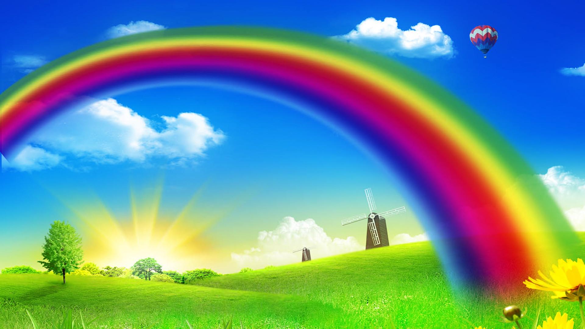 Backgroud Rainbow wallpapers HD.