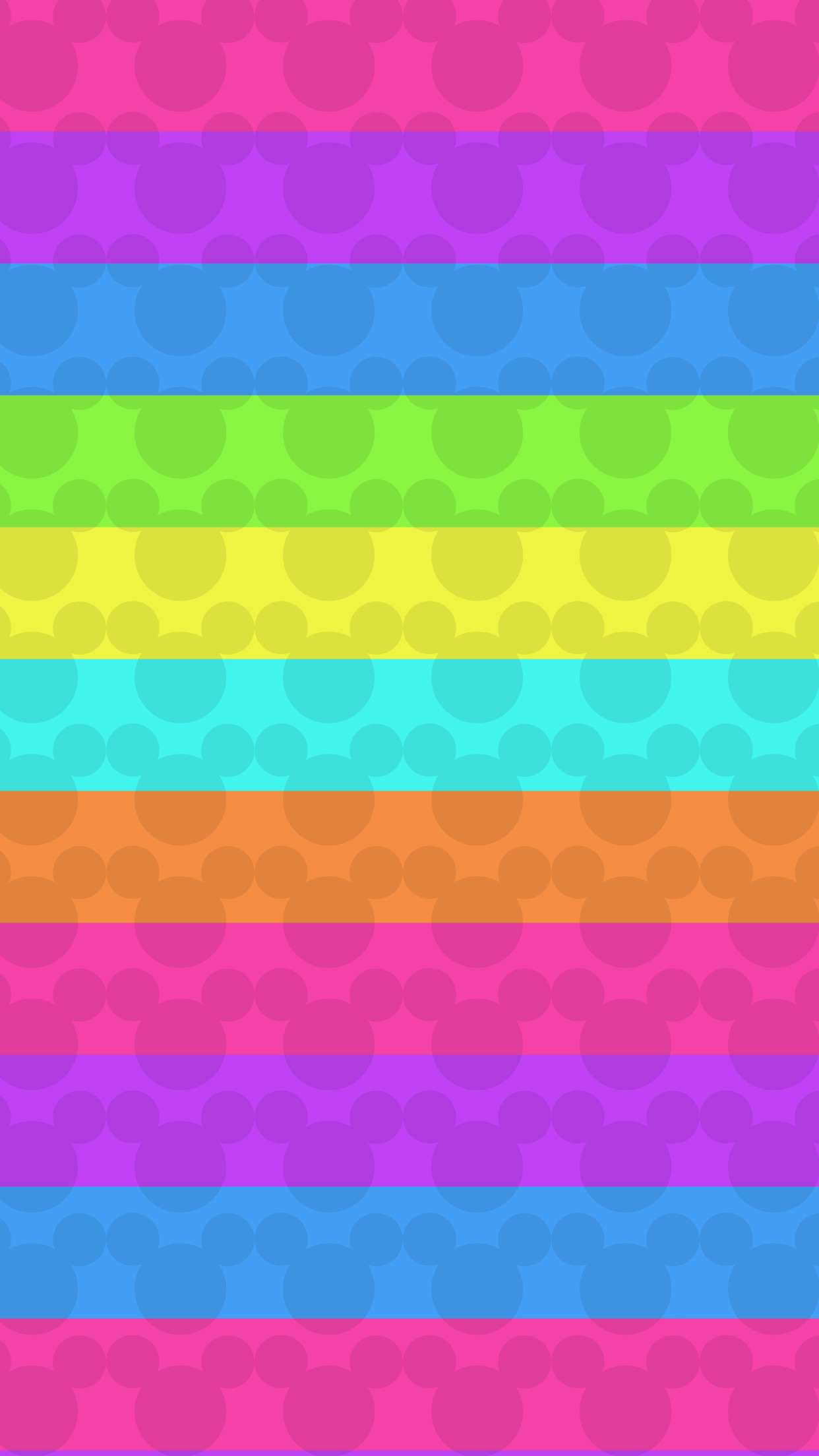 Colorful, Minnie Mouse, rainbow, wallpaper, background, iPhone, android,  Samsung