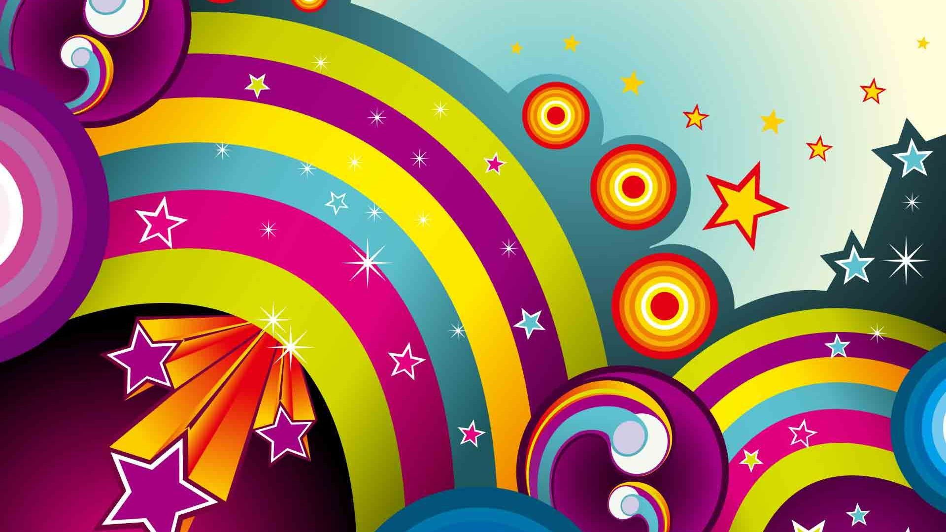 Cool vector Starlight and rainbow backgrounds wide wallpapers:1280×800,1440×900,1680×1050  –