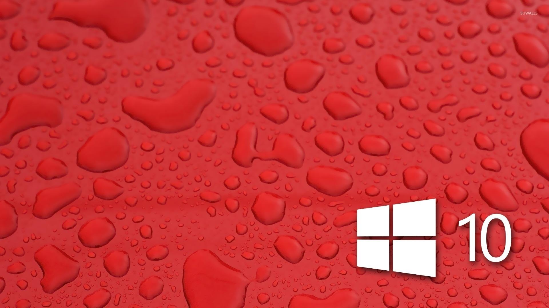 Windows 10 on water drops [3] wallpaper jpg