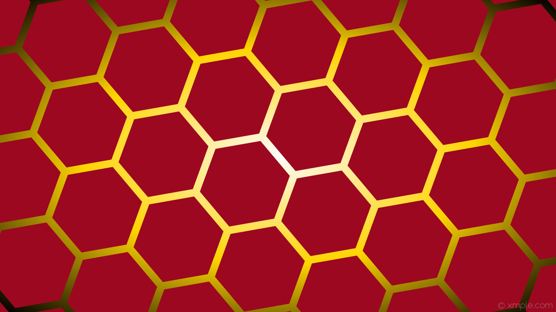 wallpaper yellow glow black red gradient hexagon white gold #9b0820 #ffffff  #ffd700 diagonal