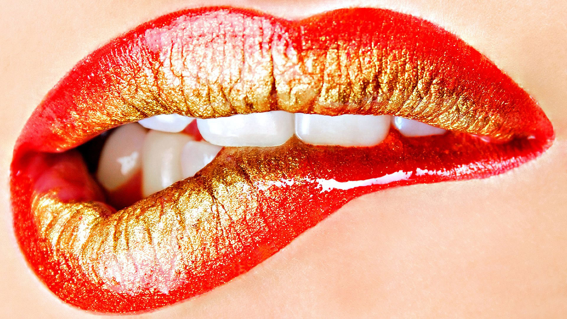 Lips Gold Kiss Lipstick Mouth Red Teeth Free Hd Wallpapers Resolution :  Filesize : kB, Added on July Tagged : lips