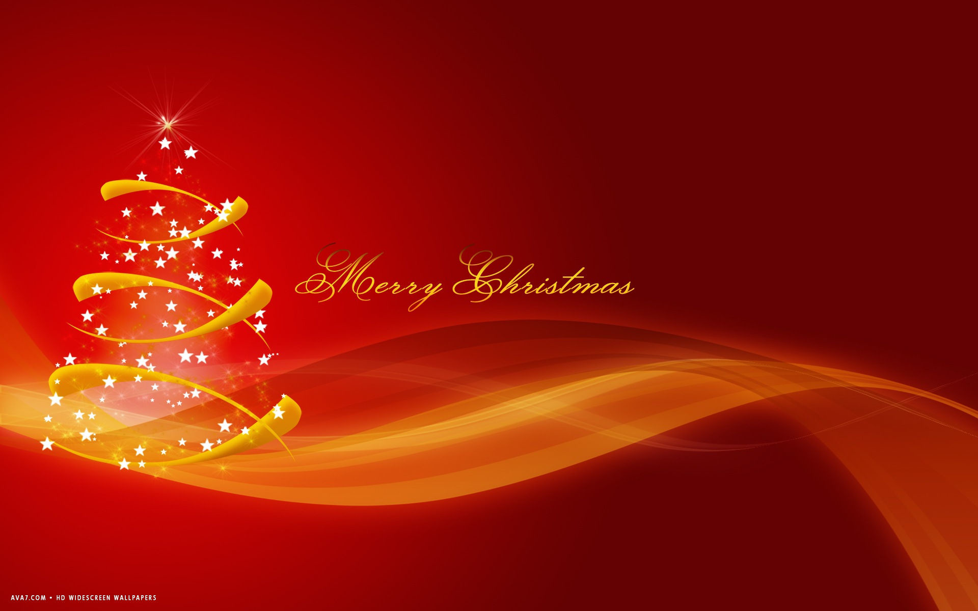 merry christmas gold vector tree red abstract holiday hd widescreen  wallpaper