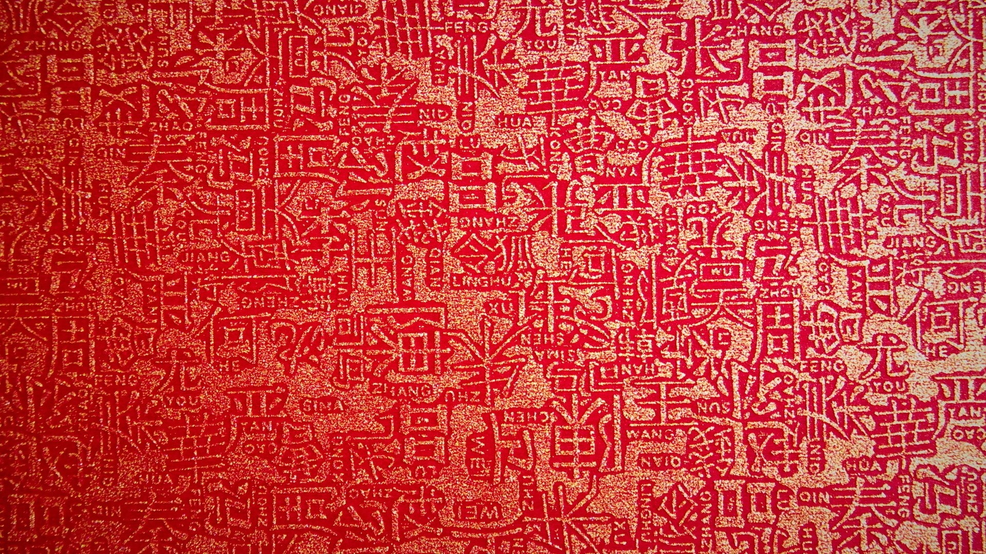 Wallpaper background, lettering, red, texture, characters, gold