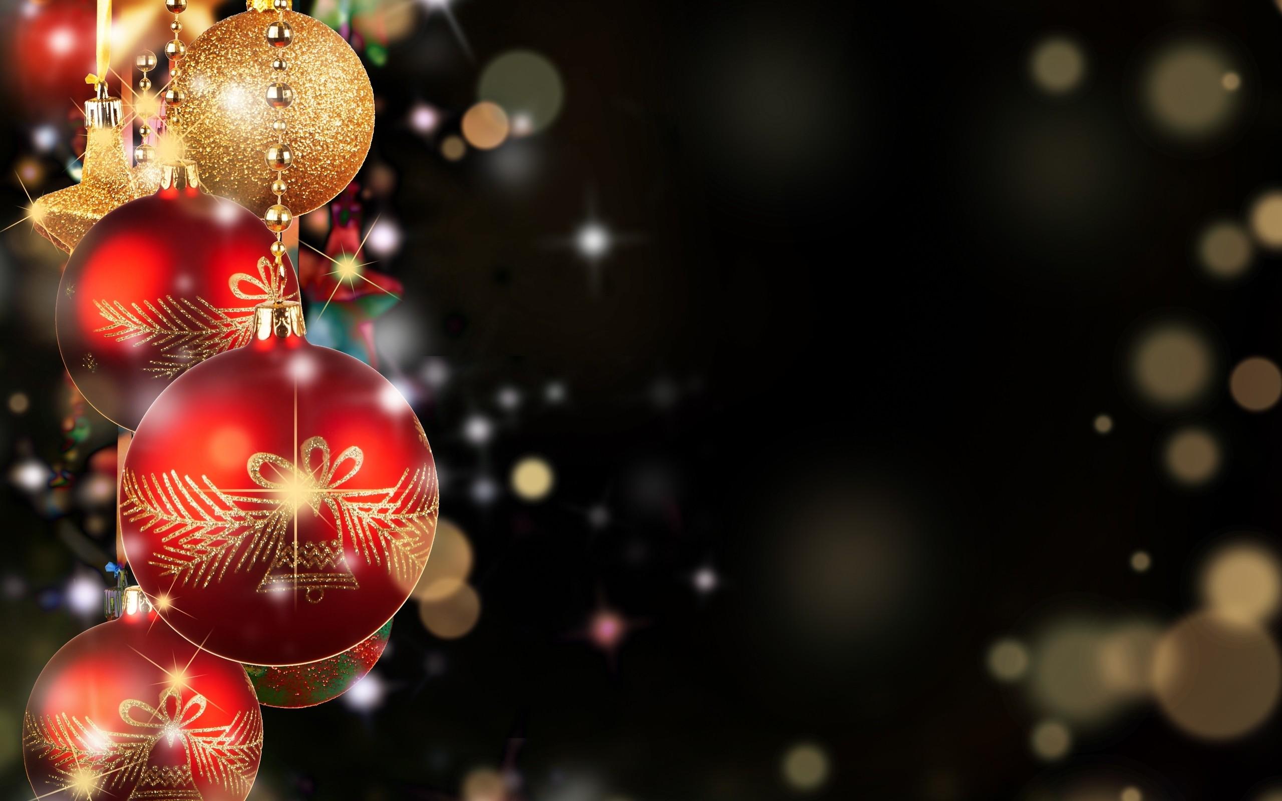 Gold Christmas HD desktop wallpaper : Widescreen : High Definition .