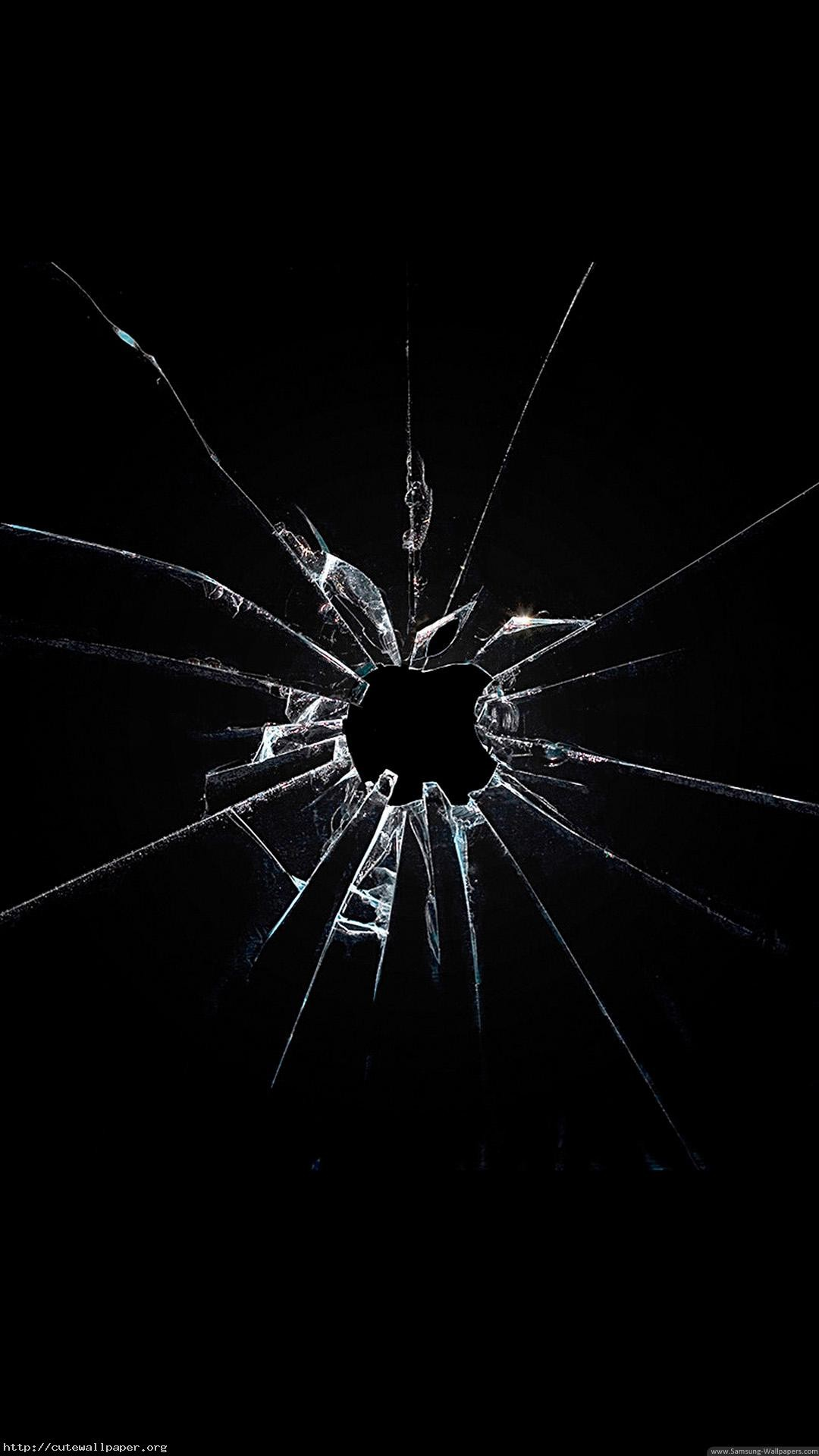 Broken Screen iPhone iPod Wallpaper WALLPAPER Smash