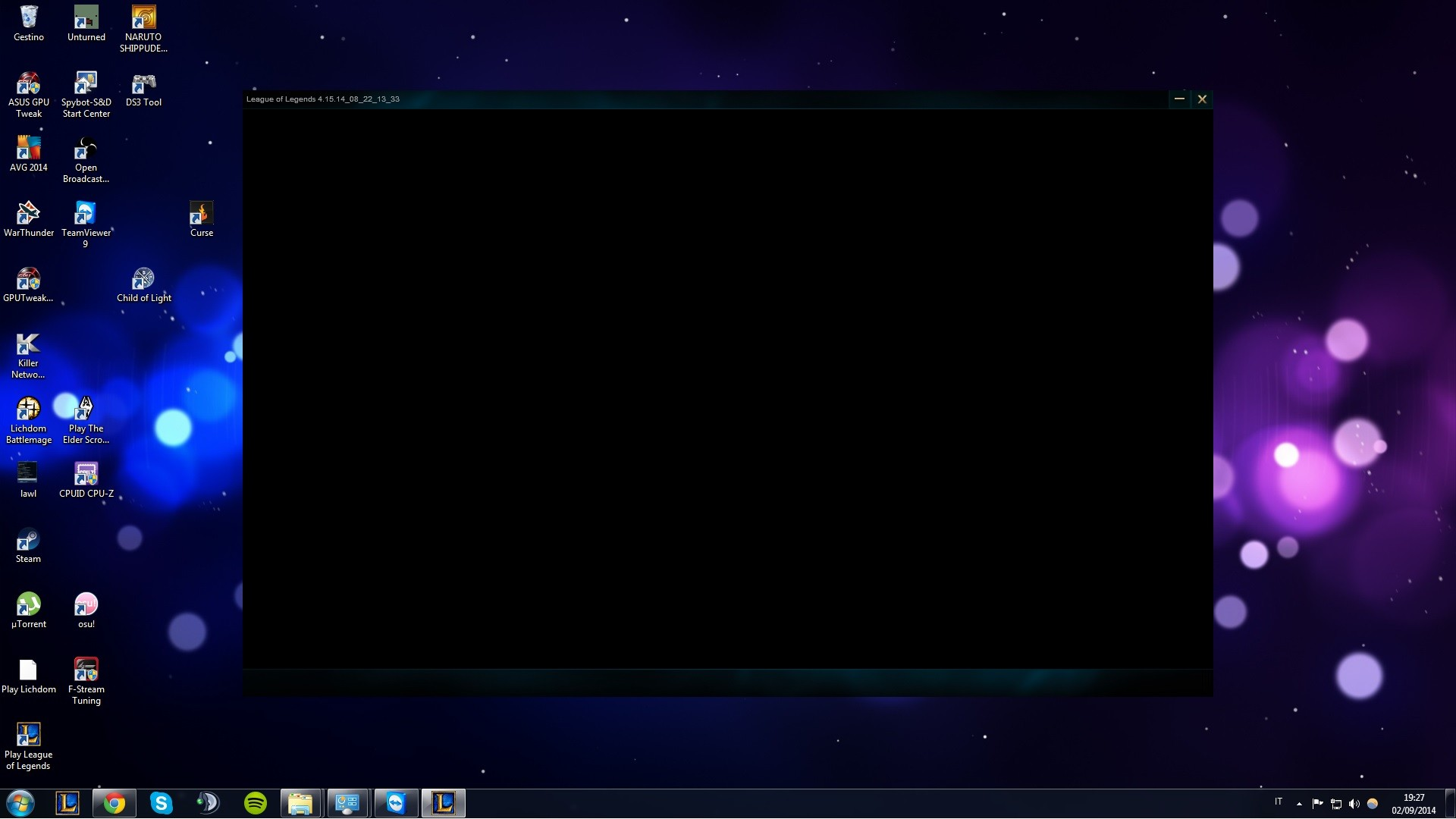 Black Screen Login League of Legends (after Launch) :: League of Legends  (LoL) Forum on MOBAFire